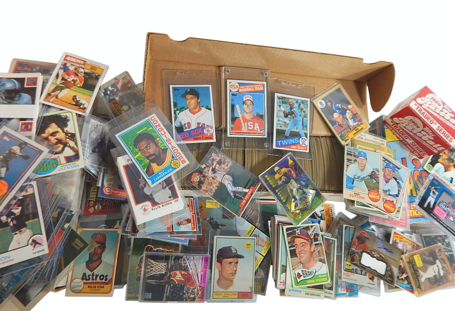 Large Sports Cards Collection from 1960s to 2000s