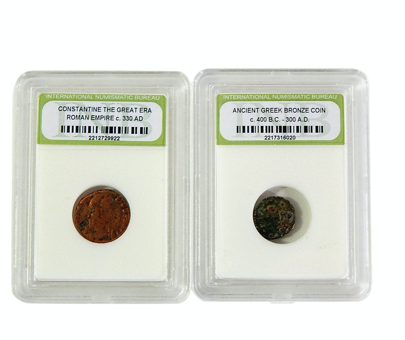 Ancient Greek and Constantine Empire Bronze Coin Specimens