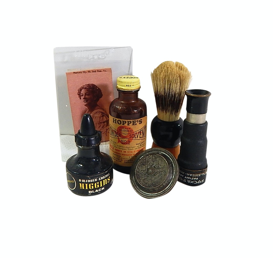 Shaving Brush, Antique Collectibles, Old Mill Cigarettes Silk