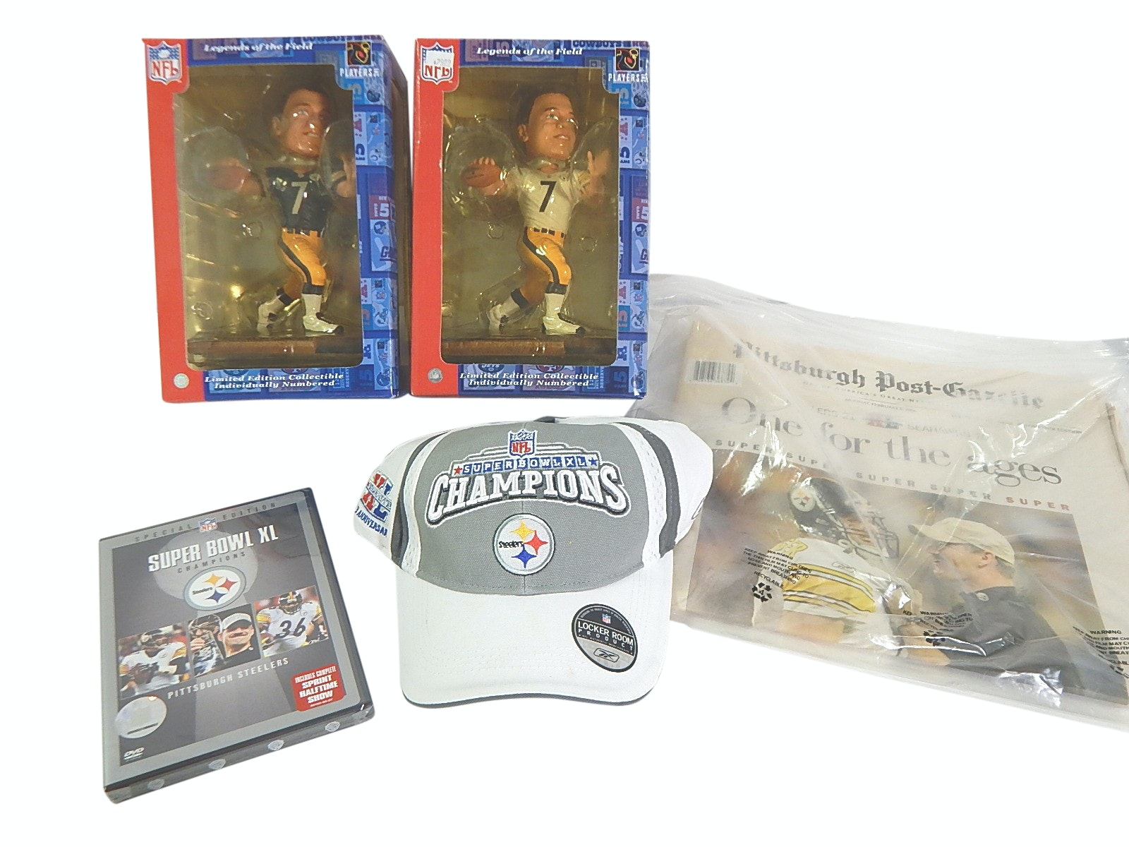 Pittsburgh Steelers Sports Memorabilia with Roethlisberger Bobbleheads