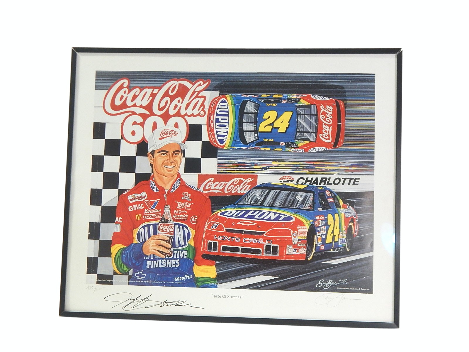 "Limited ""Taste of Success"" Jeff Gordon Signed Lithograph with Artist Signature"