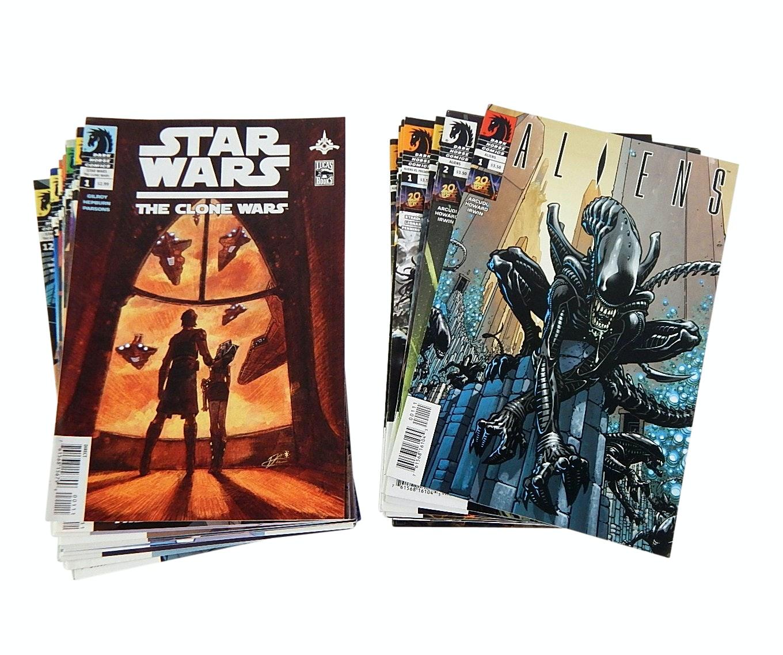 "Modern Age Dark Horse ""Star Wars"" and ""Aliens"" Comic Books"