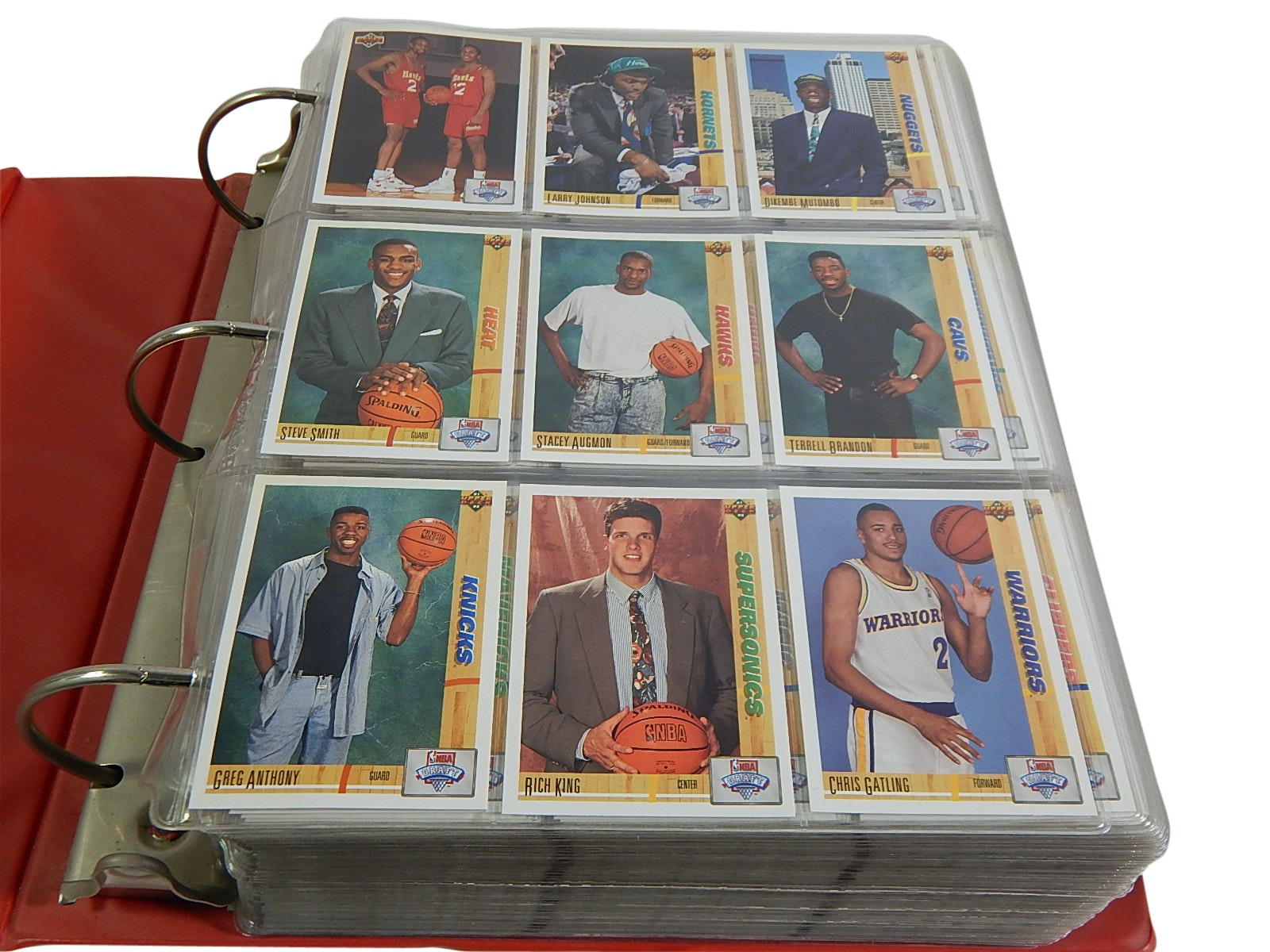 Large Album of Basketball Sets from 1990s with Jordan, Bird, Stockton and More