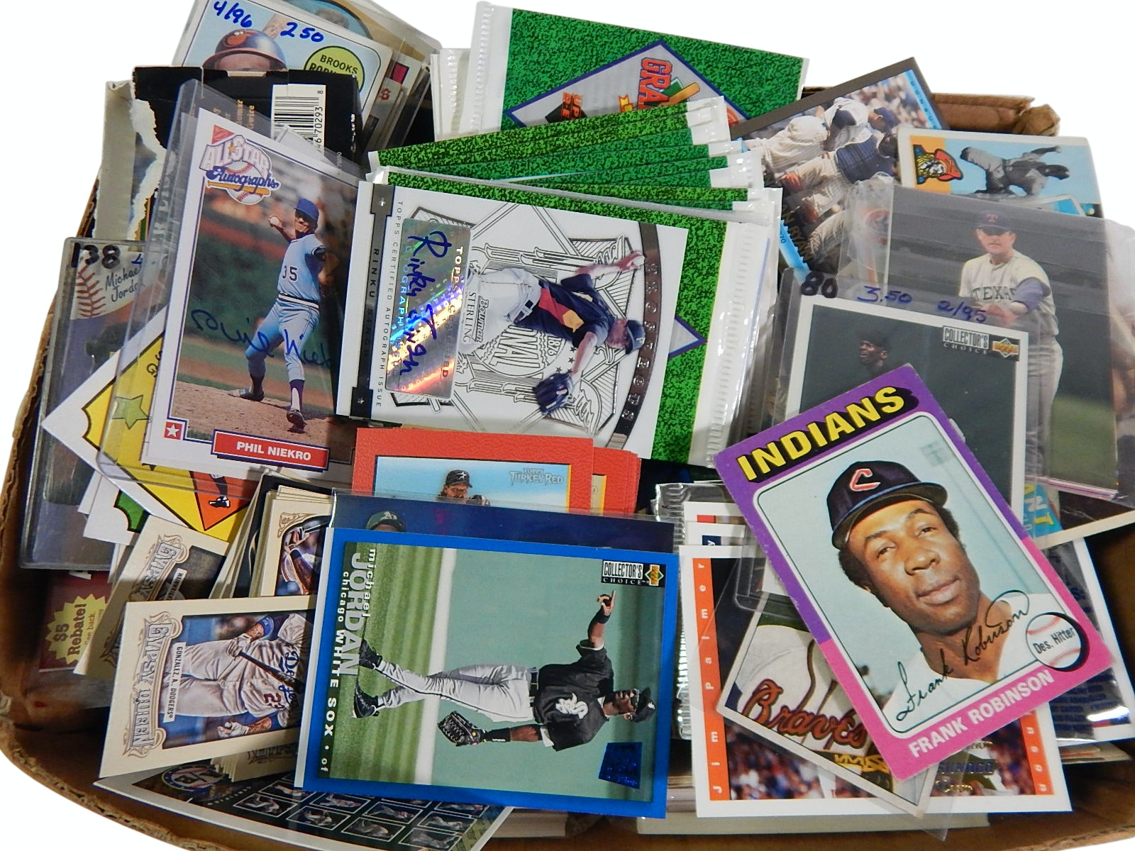 Box Full of Sport Cards with Stars, Cards from 1960s, 1950 Bowman Sid Gordon