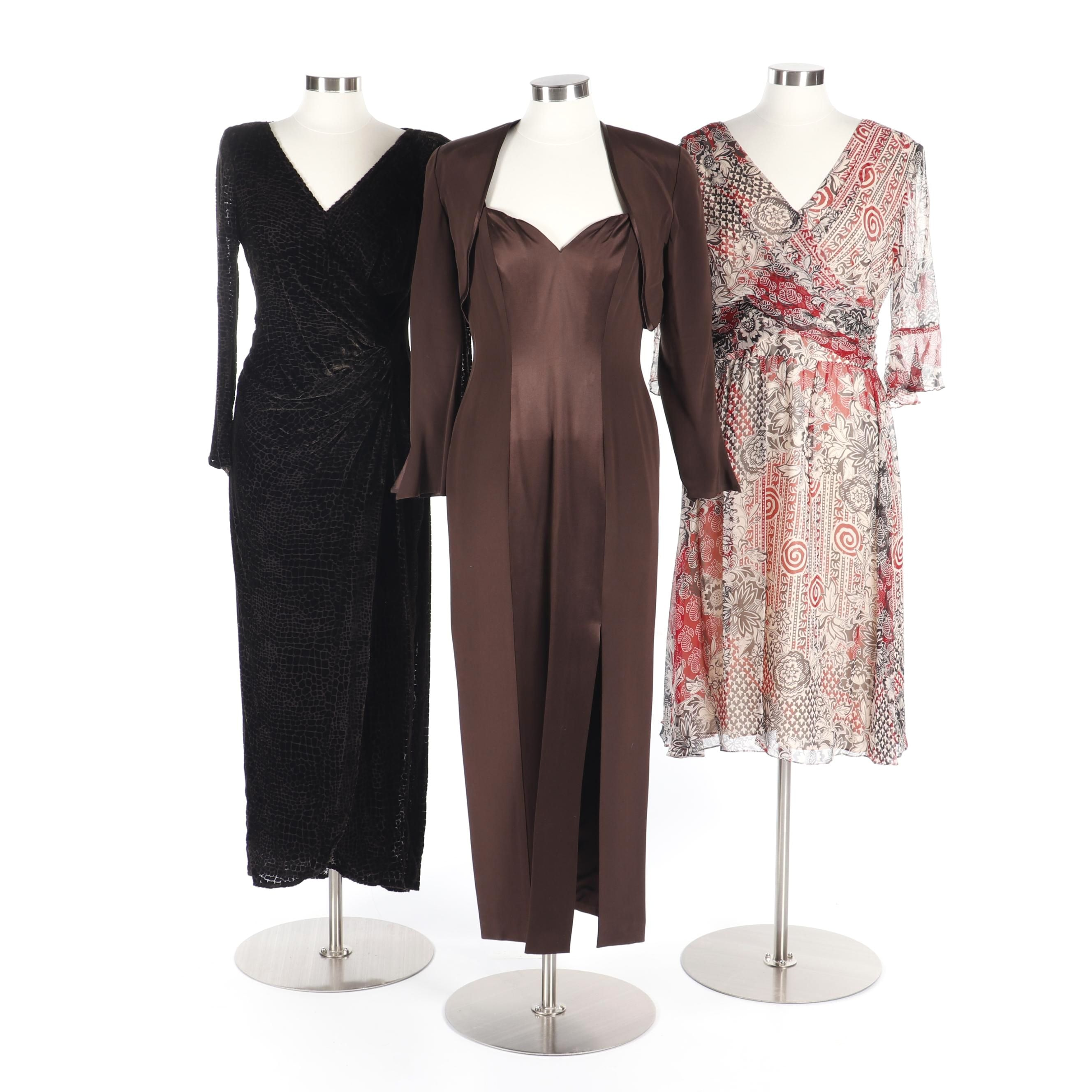 Dresses Including Tadasi Devoré and Fyodor Two-Piece Cocktail and Muse Casual