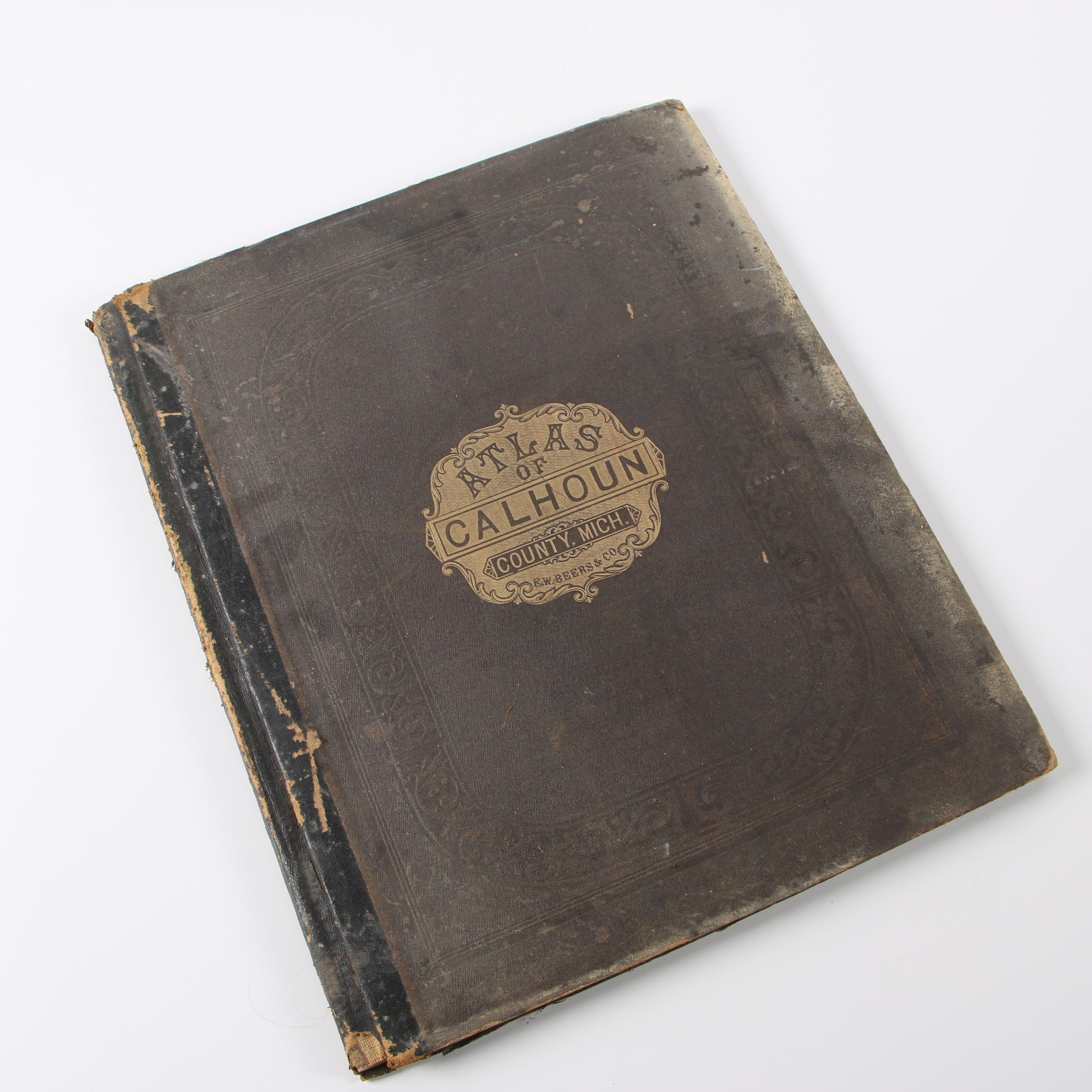 """""""Atlas of Calhoun Co. Michigan"""" by F. W. Beers, 1873"""