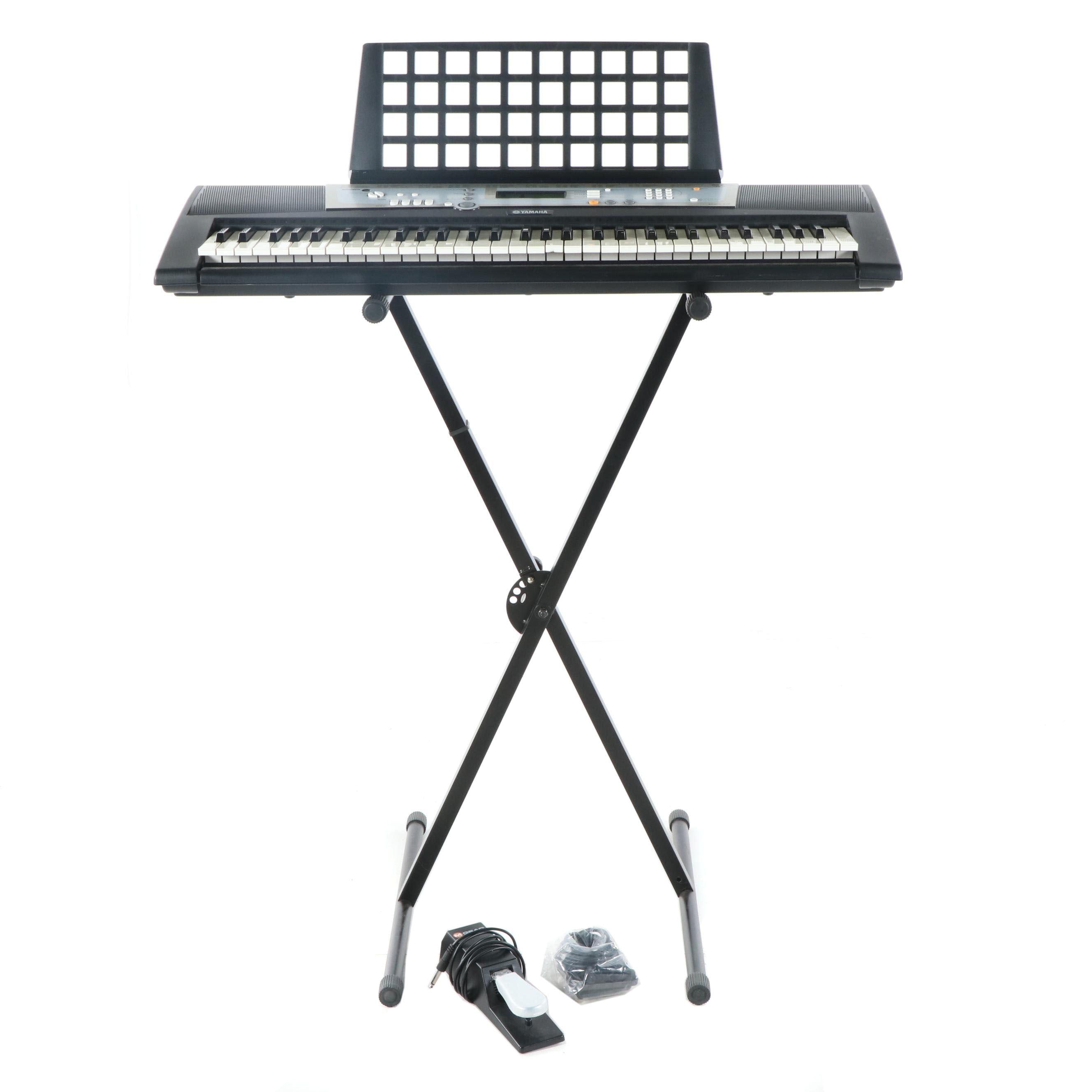 Yamaha PSR-E203 Portable Keyboard with Stand