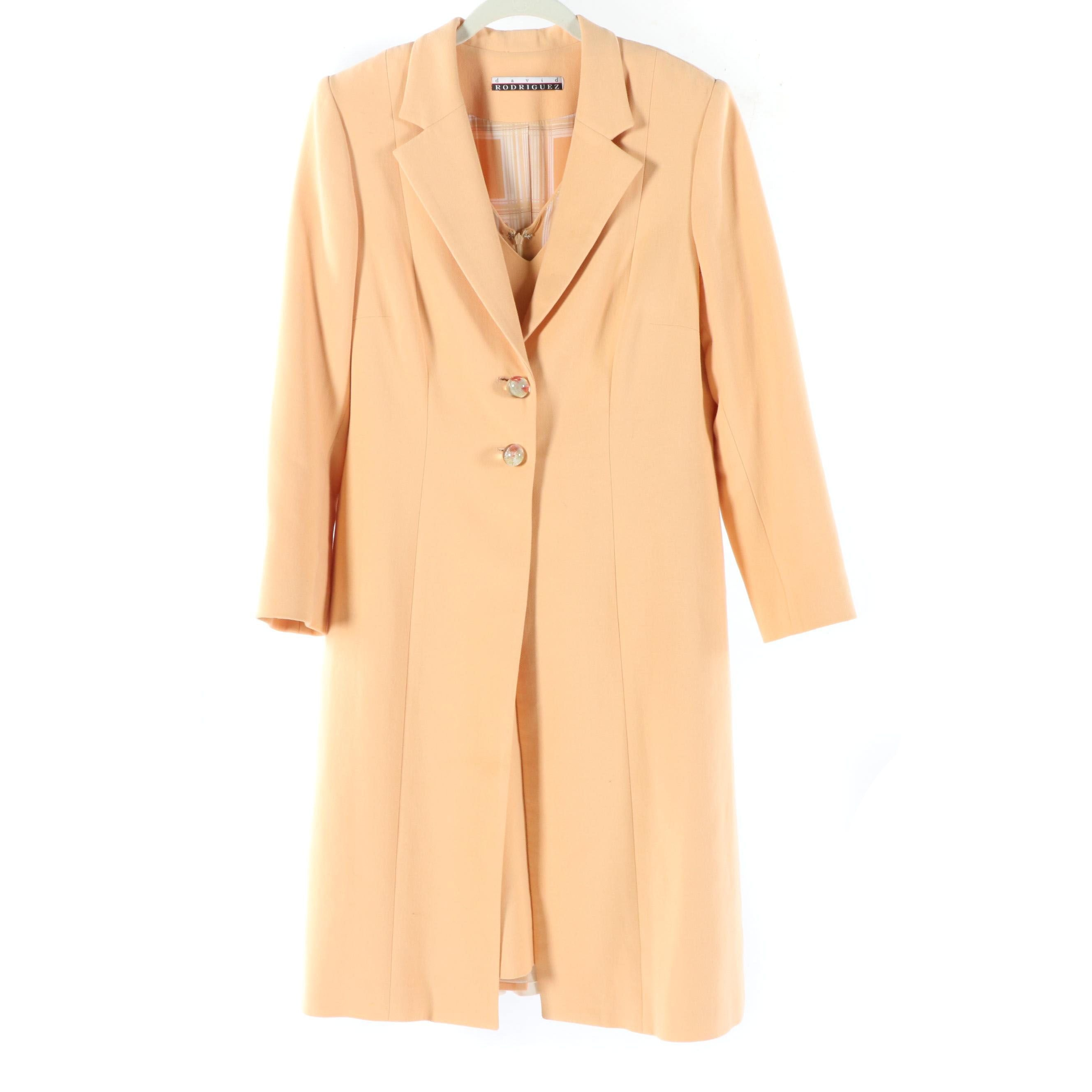David Rodriguez Peach Dress Suit