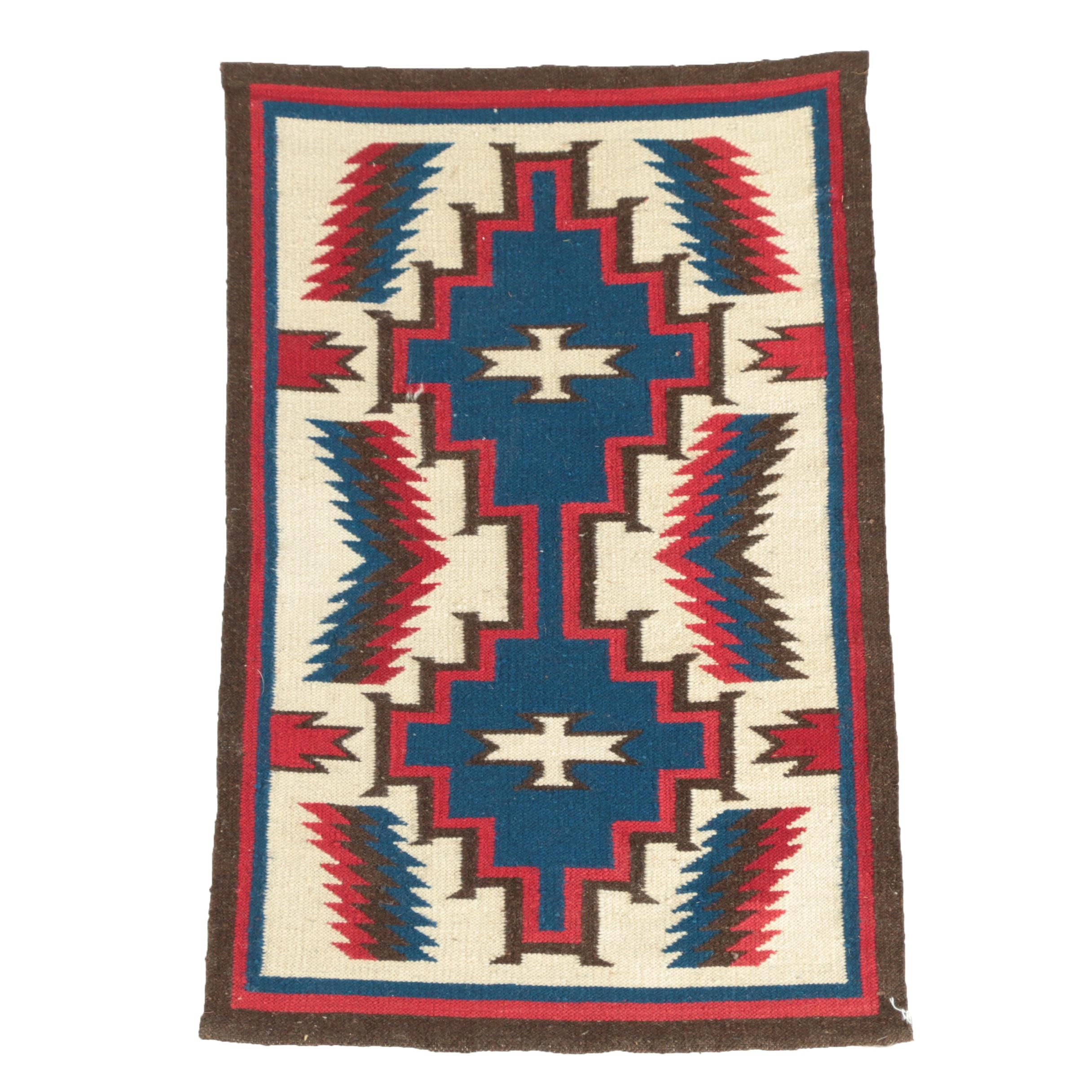 Handwoven Native American Style Wool Rug