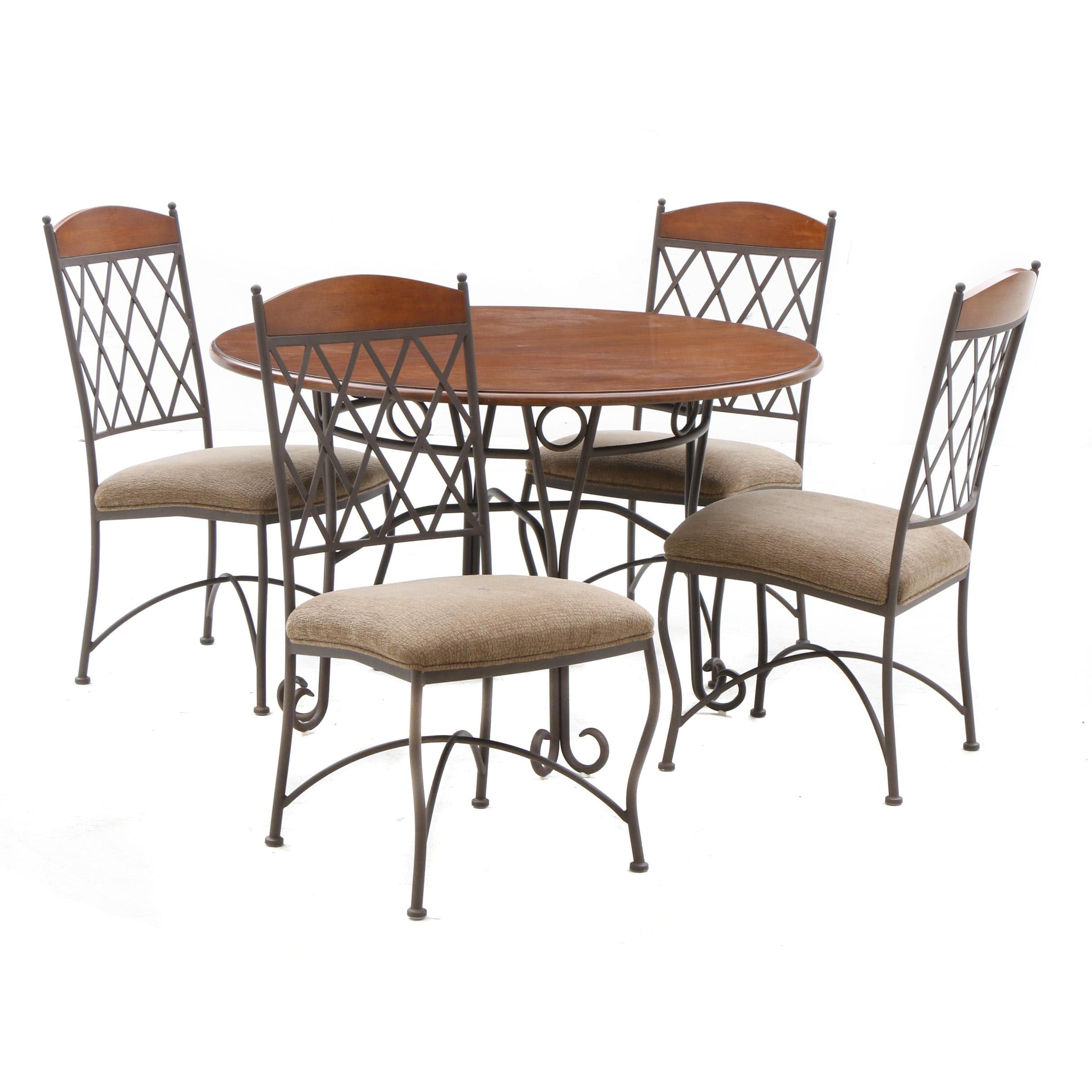 Napa Ridge Round Dining Table and Side Chairs by Minson Corporation