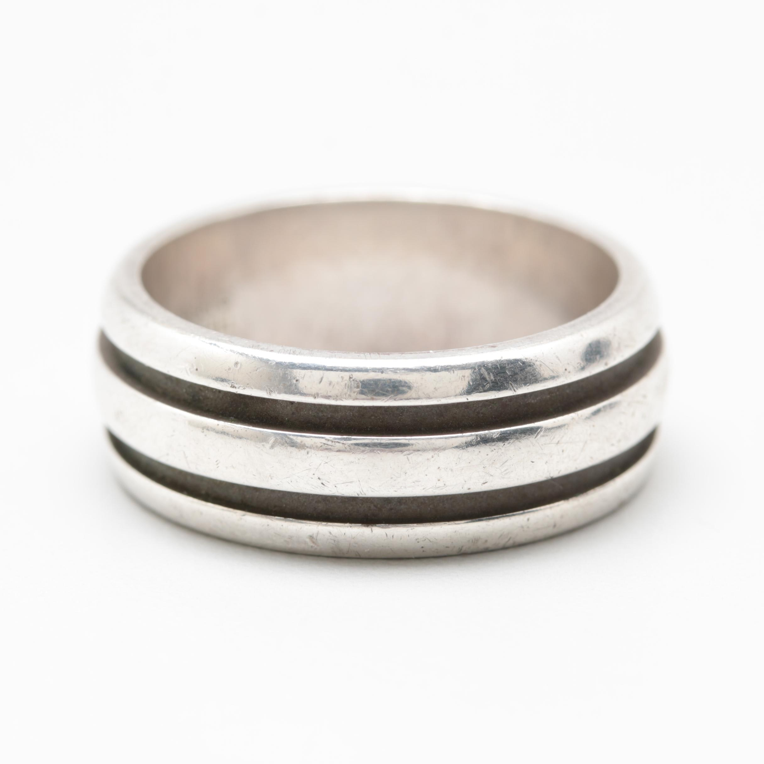 Tiffany & Co. Sterling Silver Atlas Groove Ring