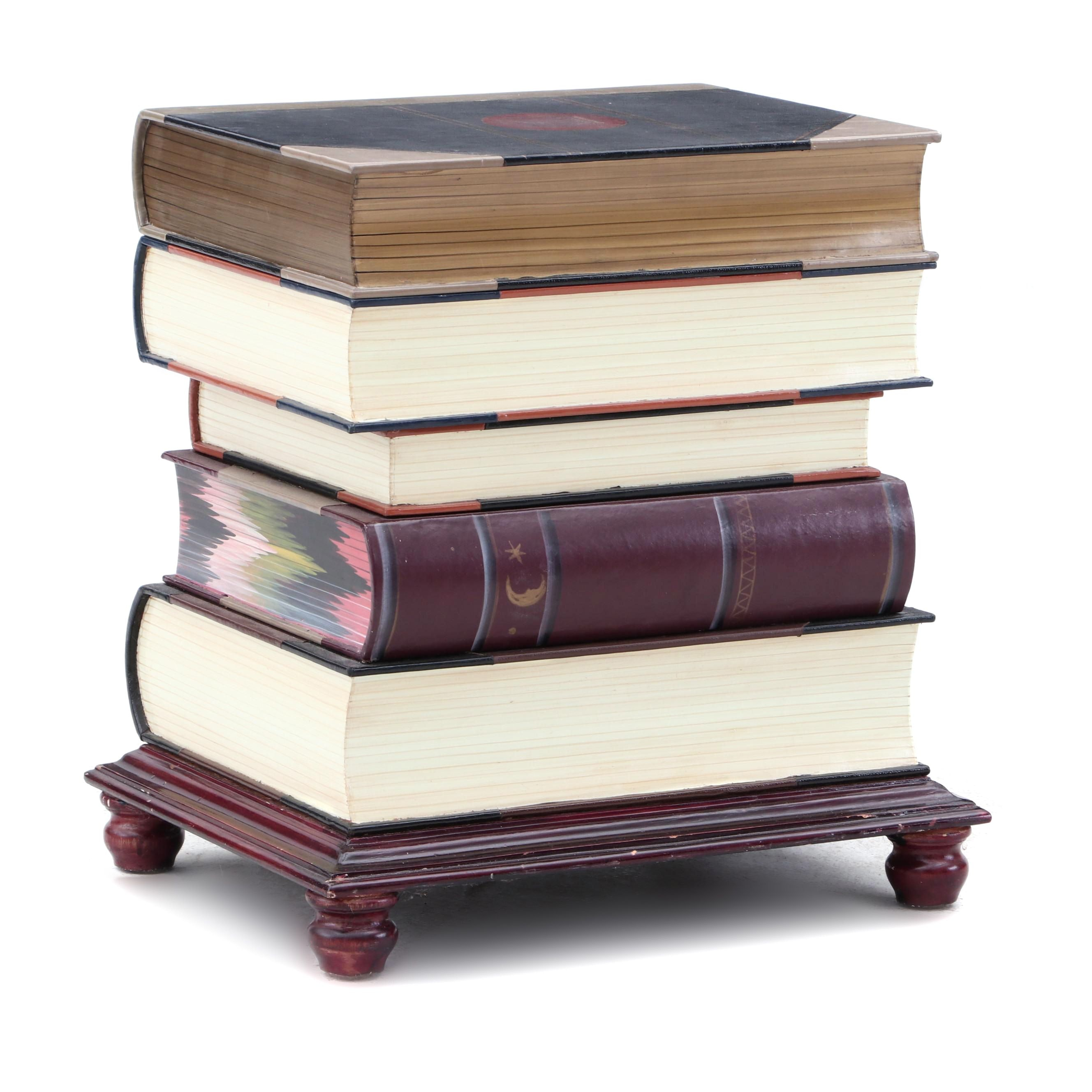 Stack of Books Contemporary End Table