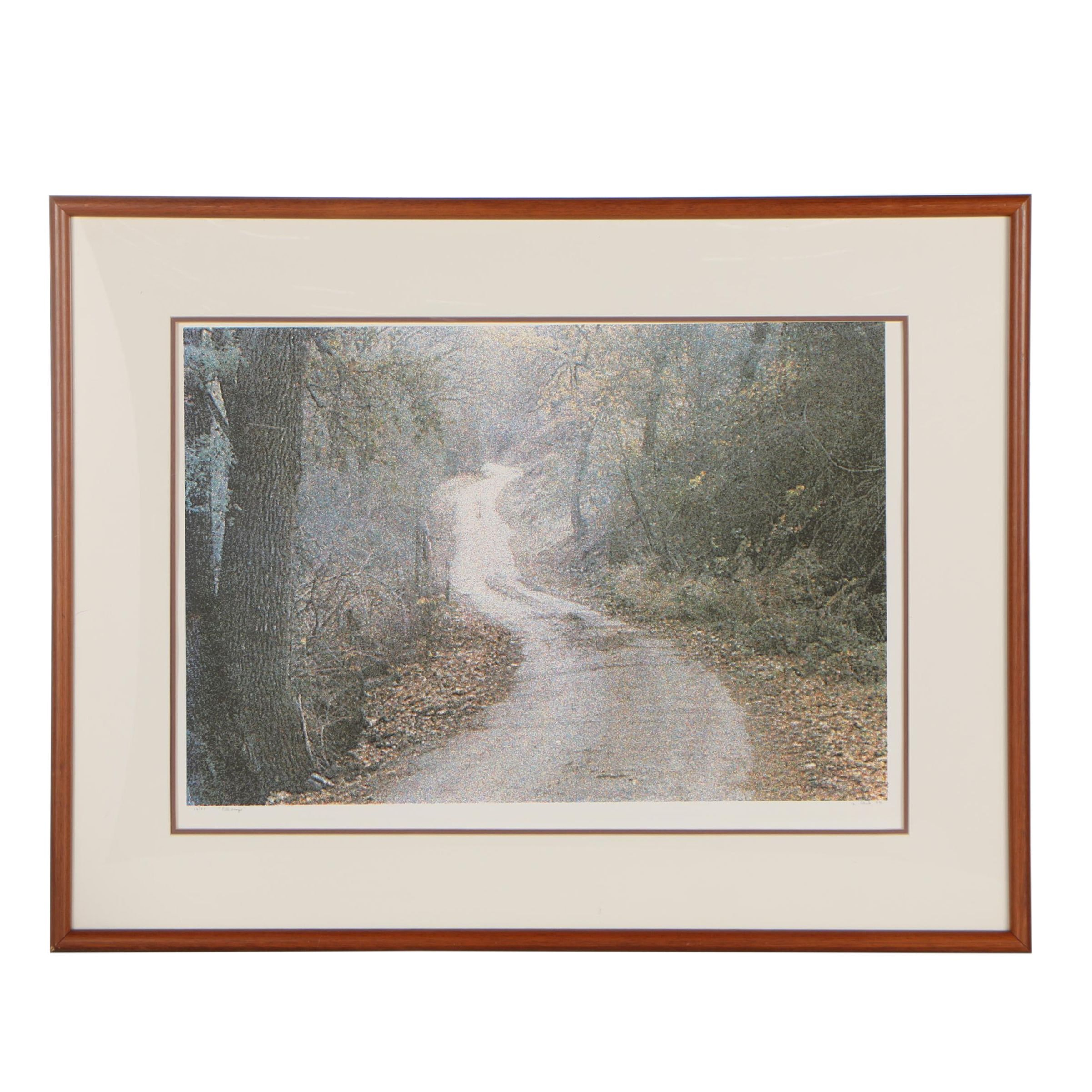 "L. Stork 1988 Serigraph ""Path Scope"""