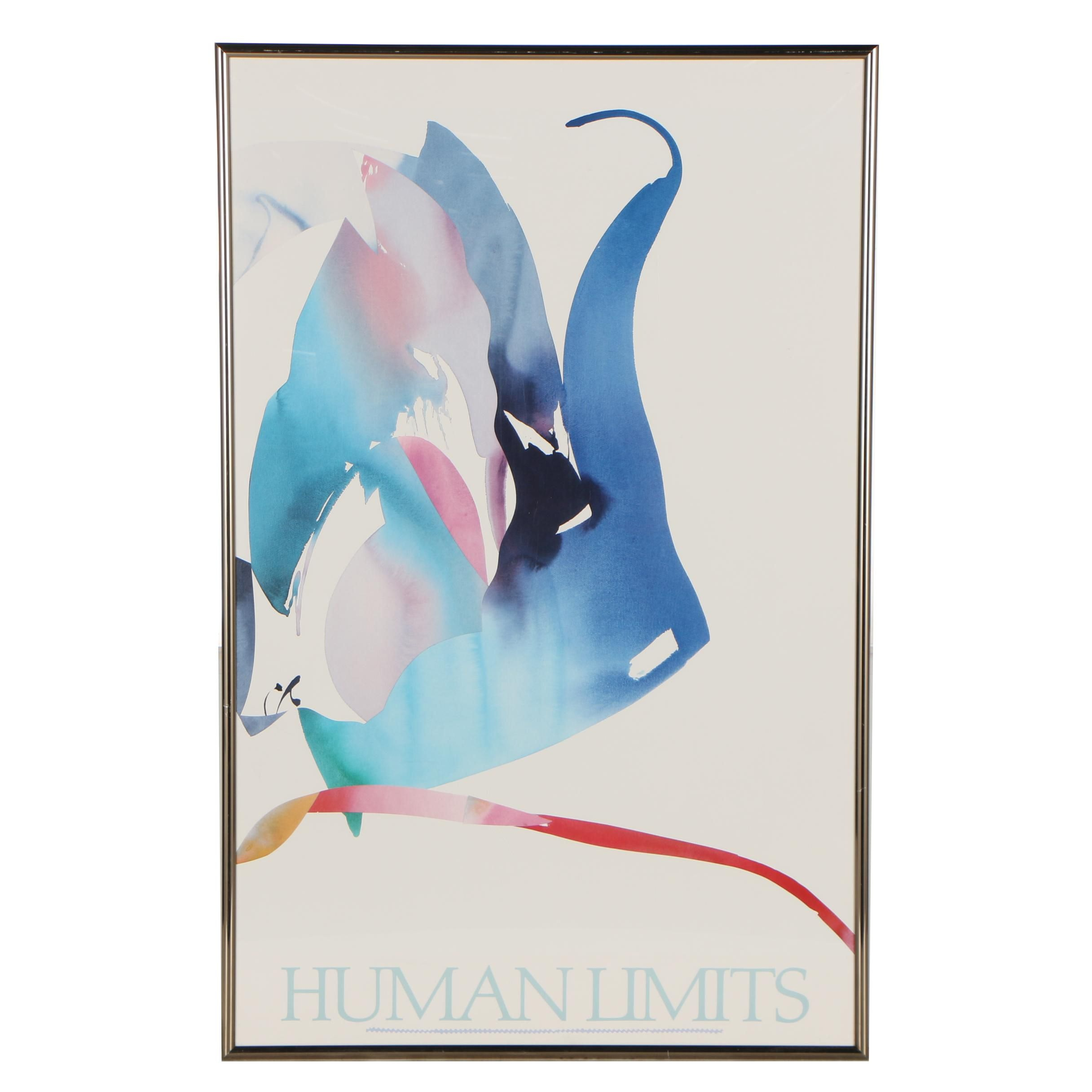 """Offset Lithograph Poster after Peter Kitchell """"Human Limits"""""""