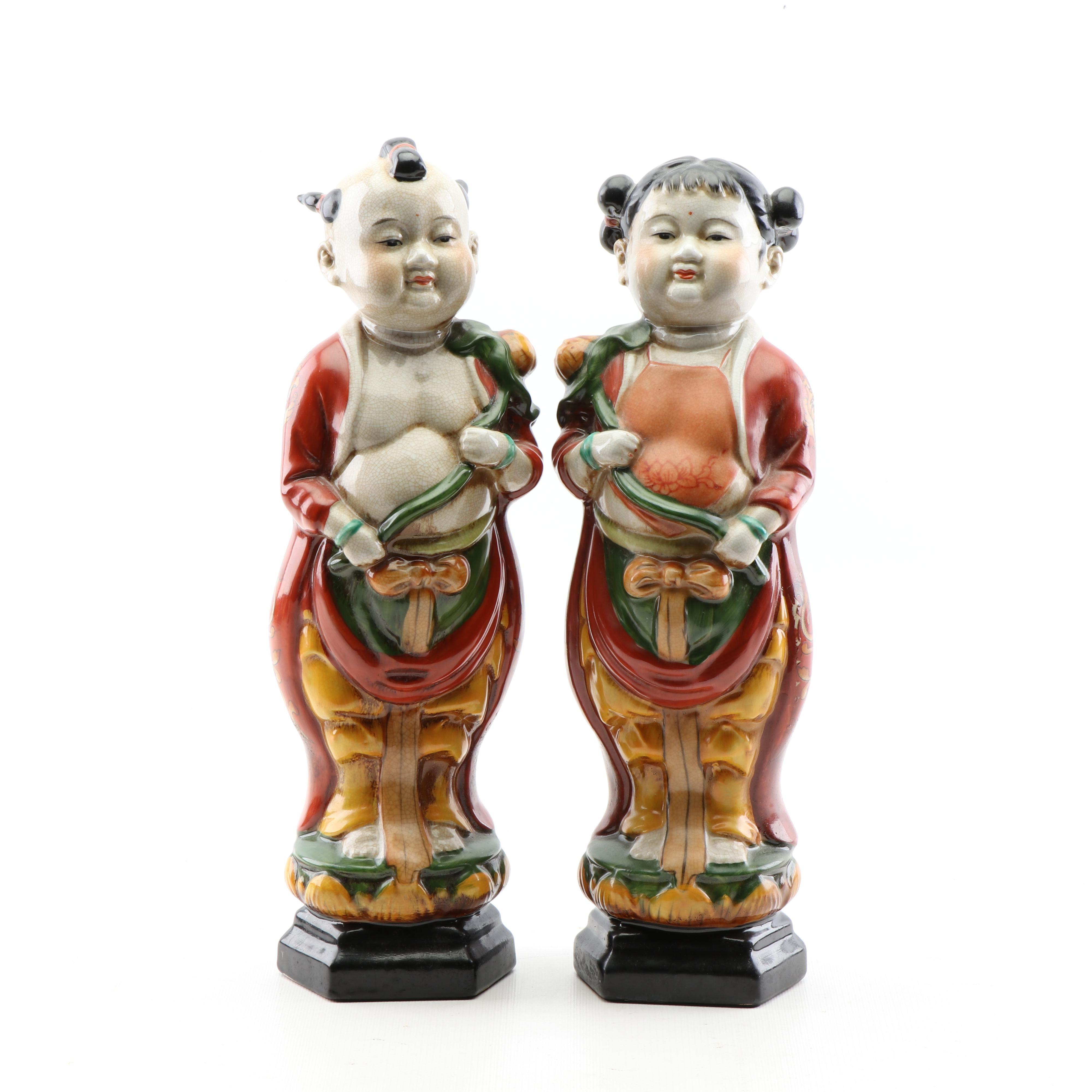 Chinese Inspired Ceramic Figurines