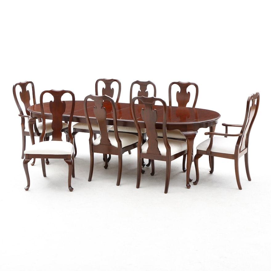 Queen Anne Style Drexel Heritage Dining Furniture Set