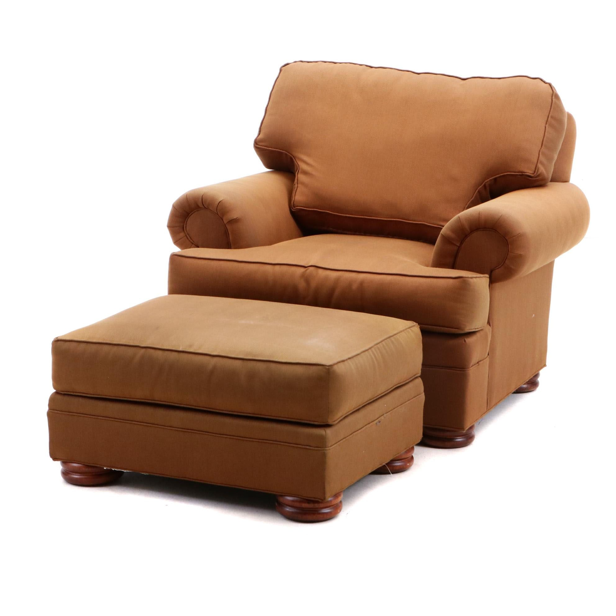 Contemporary Armchair and Ottoman from Thomasville Furniture