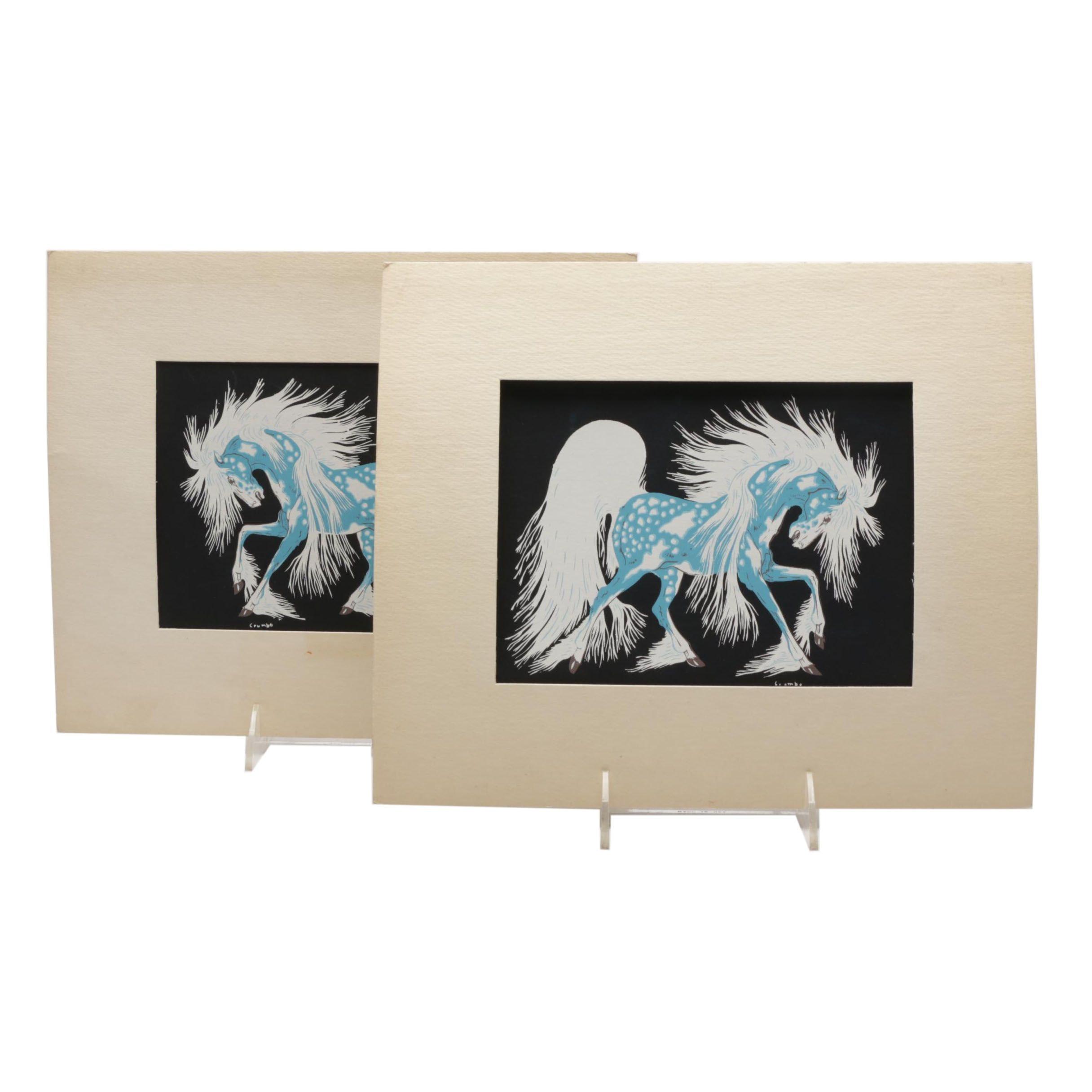 "Serigraphs after Woody Wilson Crumbo ""Spirit Horse"""