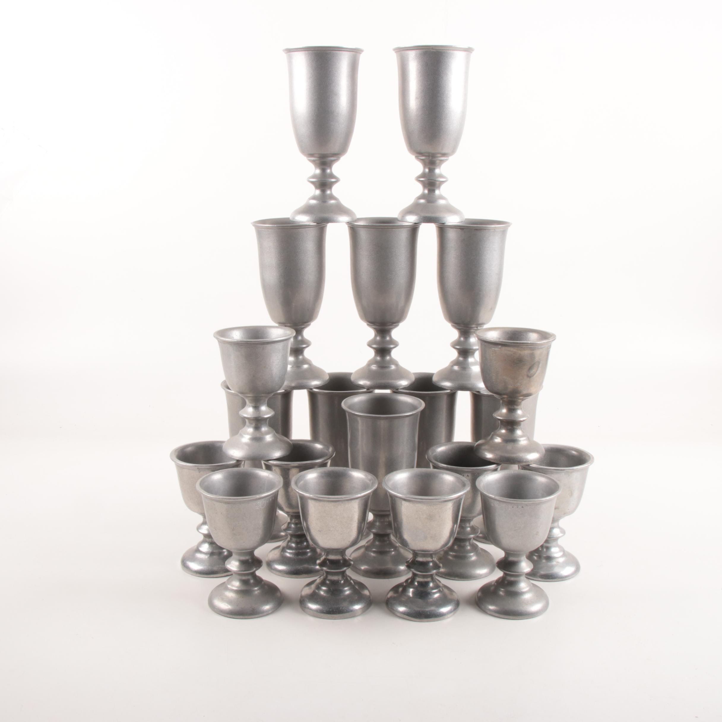 Wilton Armetale and Pewter Goblets