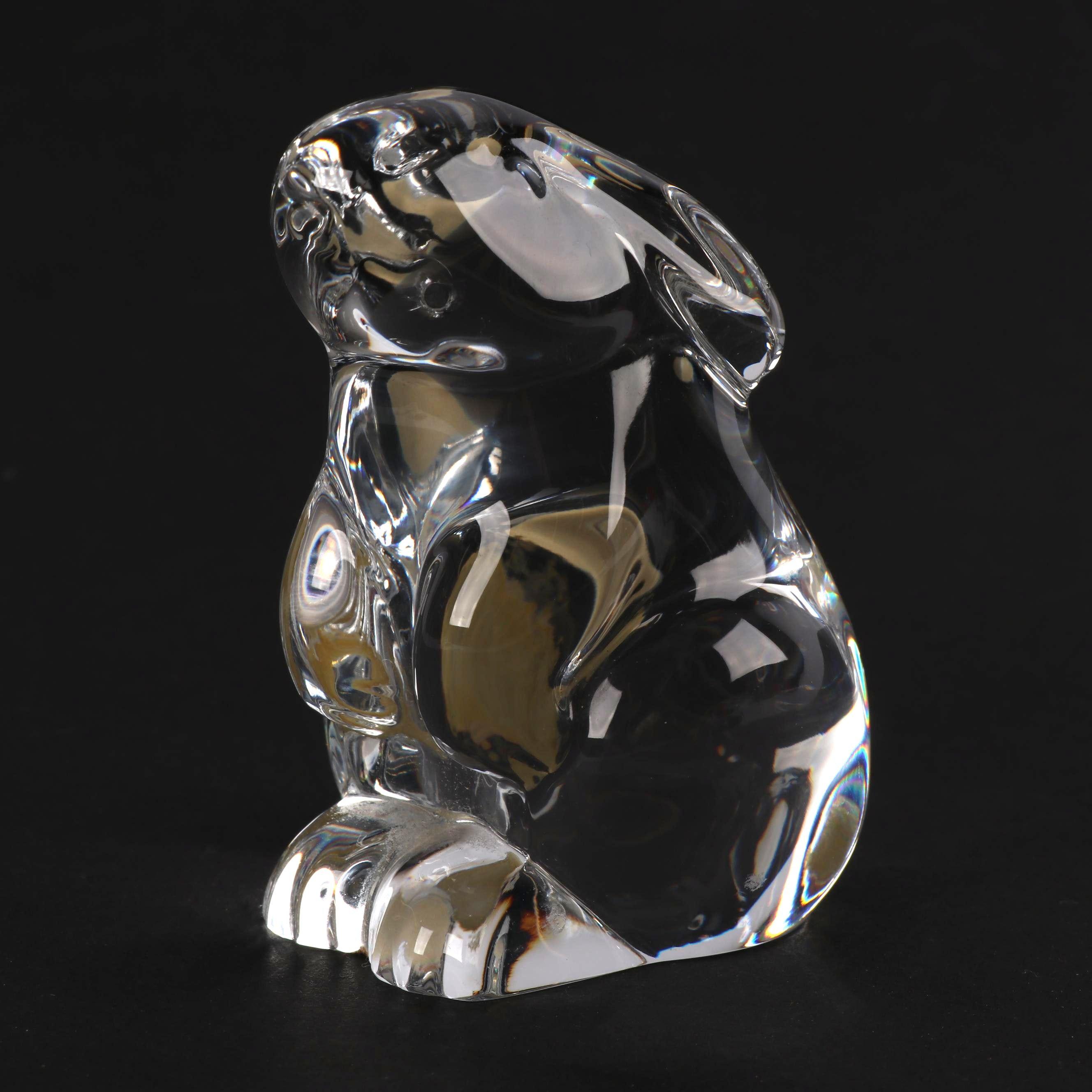 Baccarat Crystal Rabbit Hand Cooler