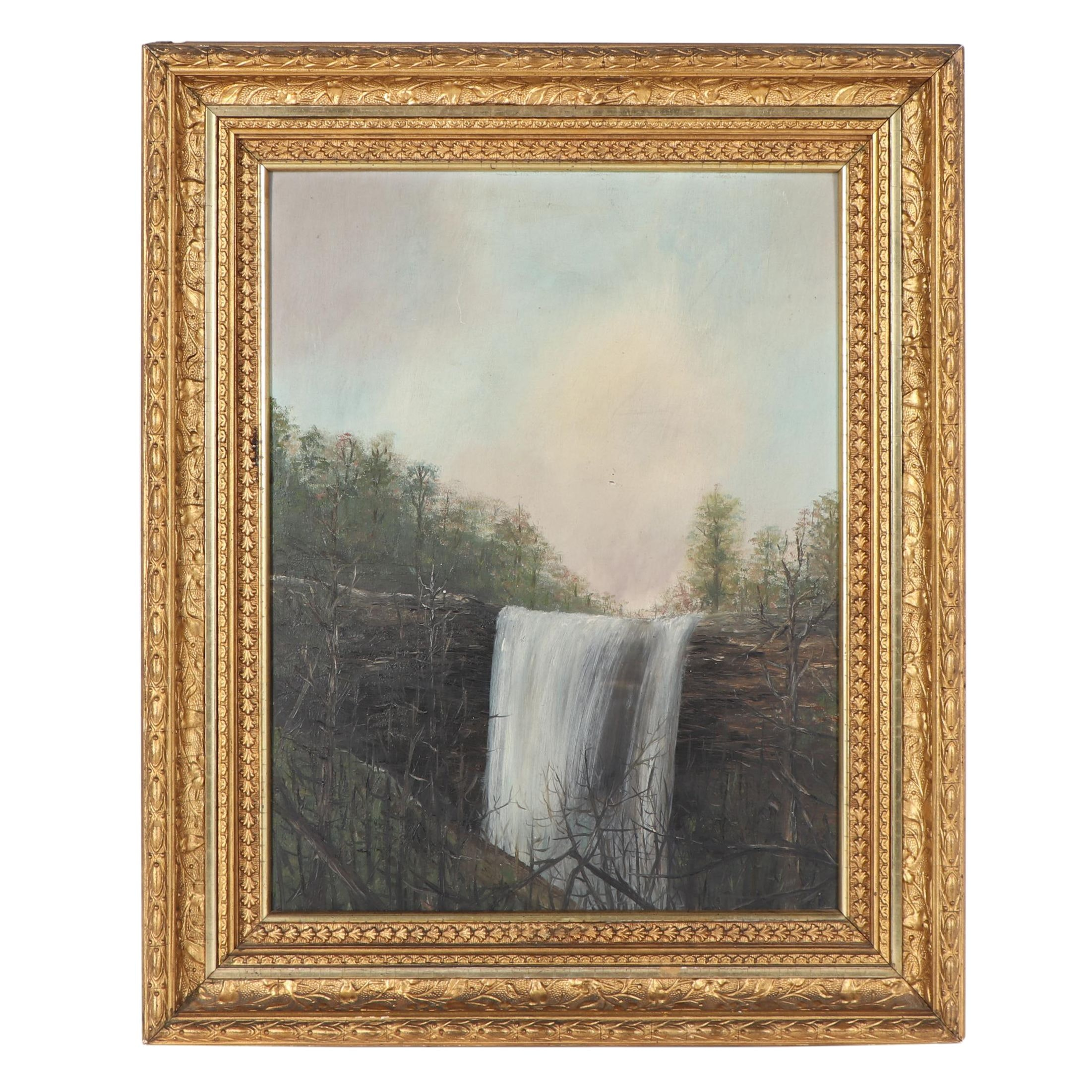 Waterfall Landscape Oil Painting