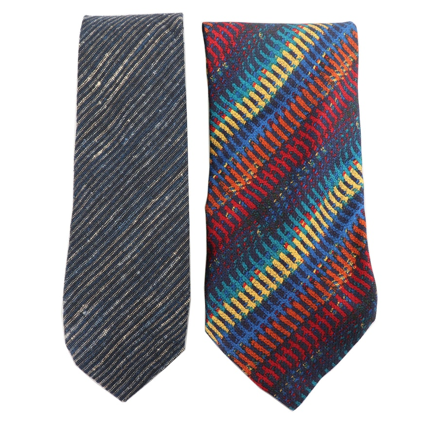 5ff945e0a26 Missoni Cotton and Silk Neckties, Made in Italy | EBTH