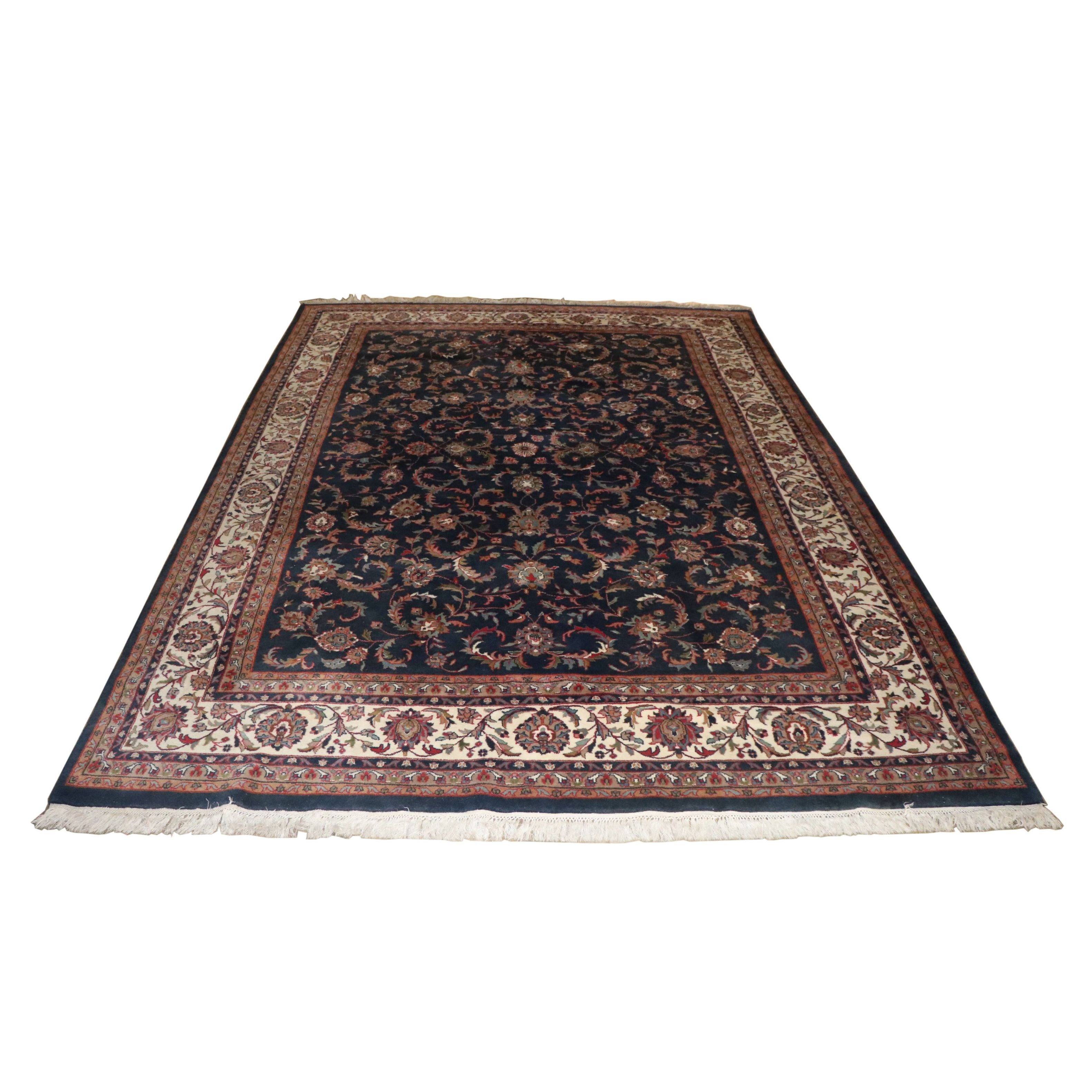 Hand-Knotted Indian Wool Room Sized Rug