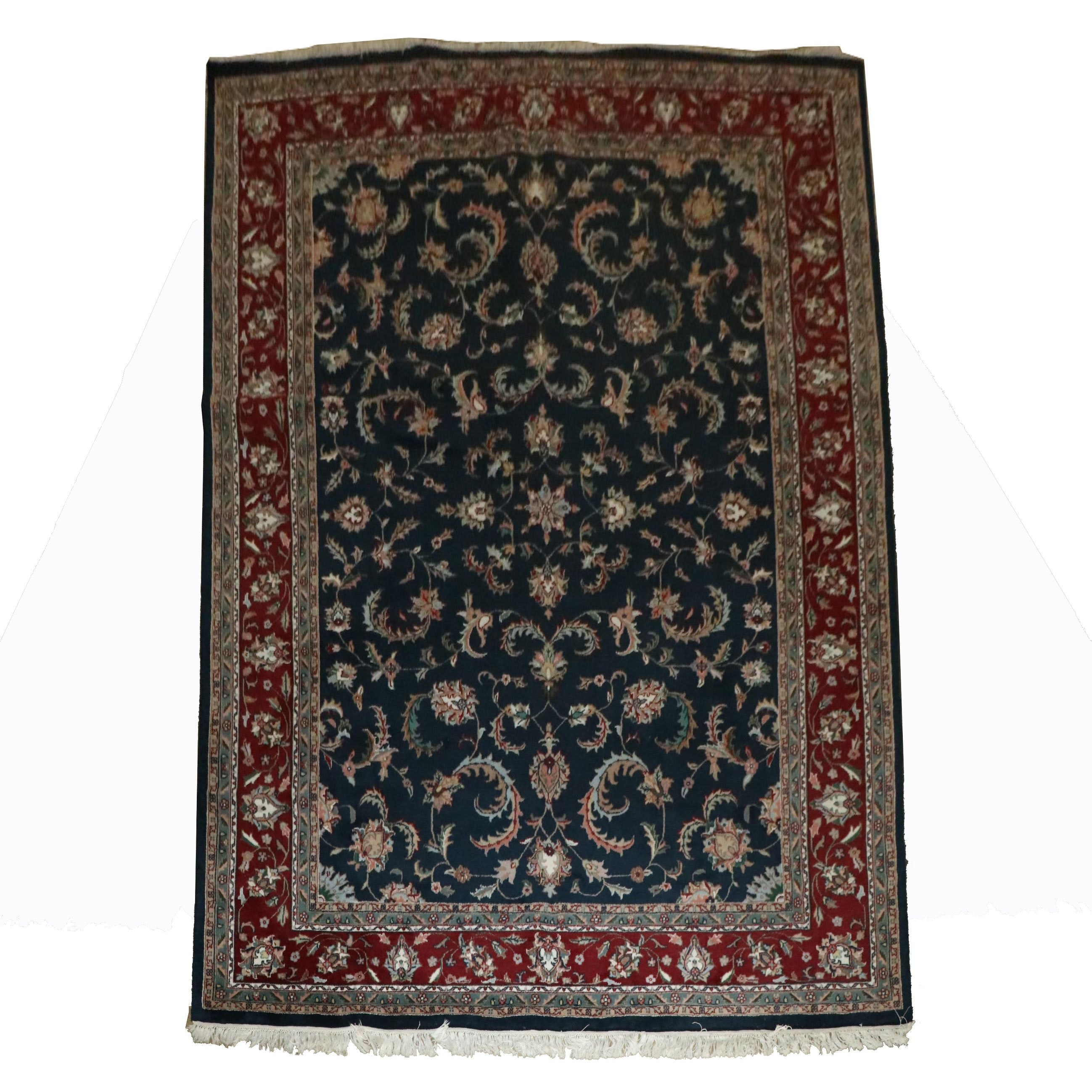 Hand-Knotted Indian Ajanta Carpet Emporium Wool Room Sized Rug