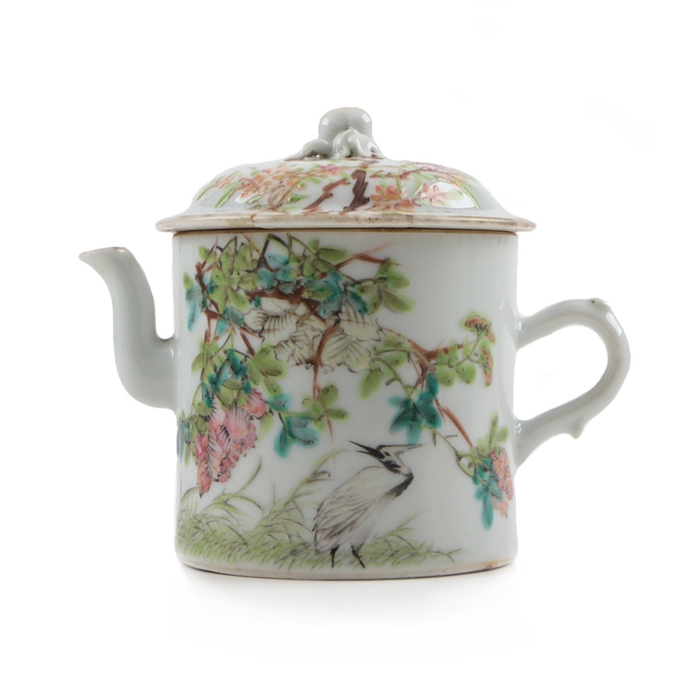 Chinese Porcelain Famille Rose Teapot with Imperial Kiln Mark, Dated 1894