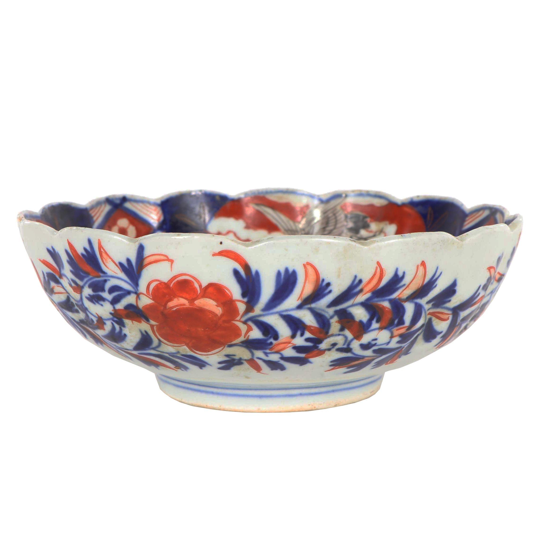 Japanese Imari Hand-Decorated Porcelain Bowl