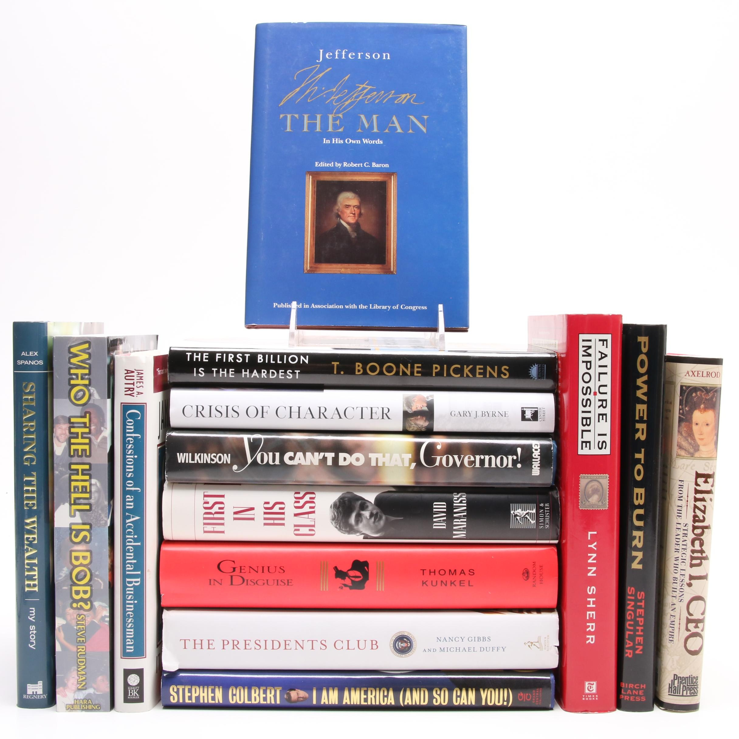 "Biography Book Collection including First Edition ""Sharing the Wealth"""