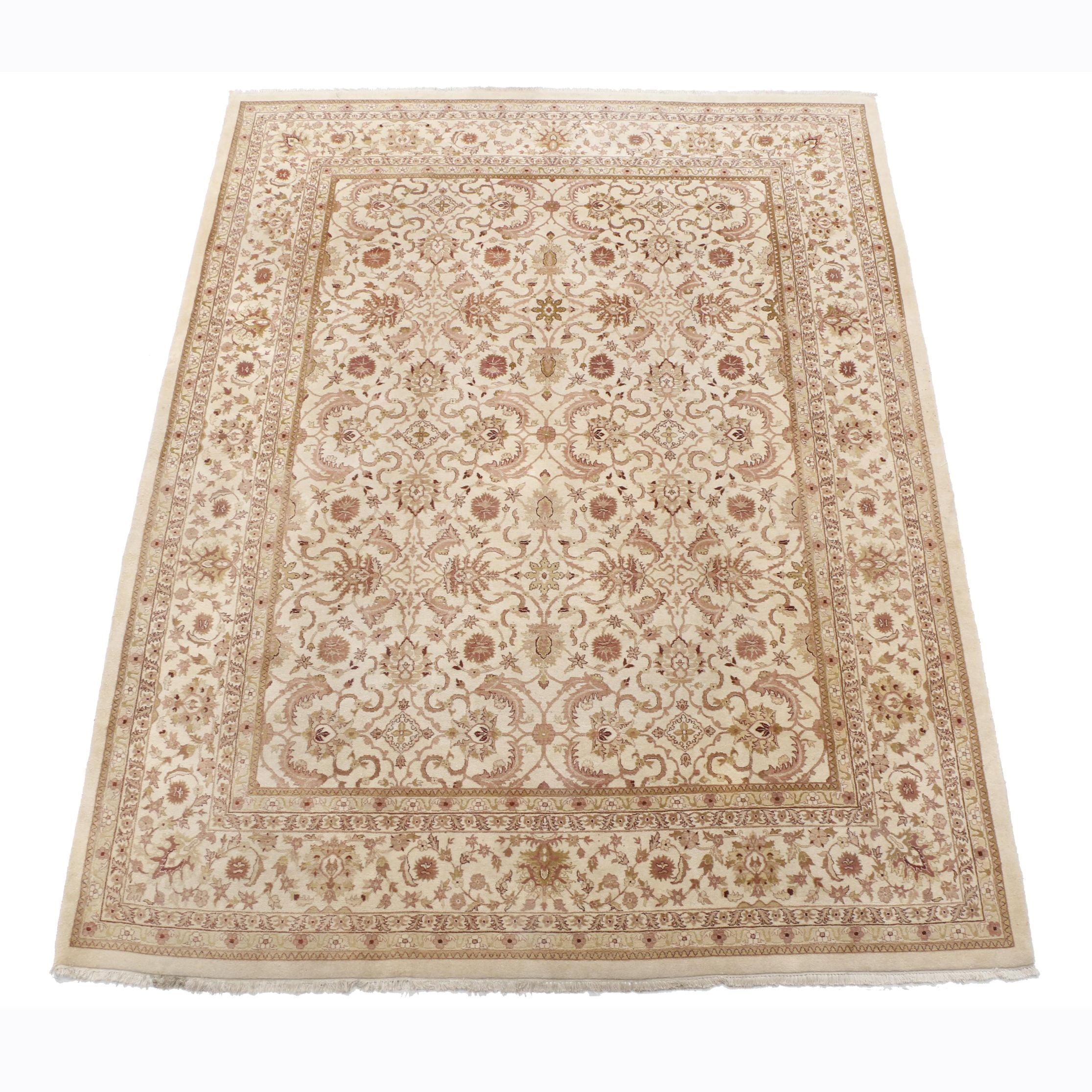 Hand-Knotted Sino-Persian Room Sized Area Rug