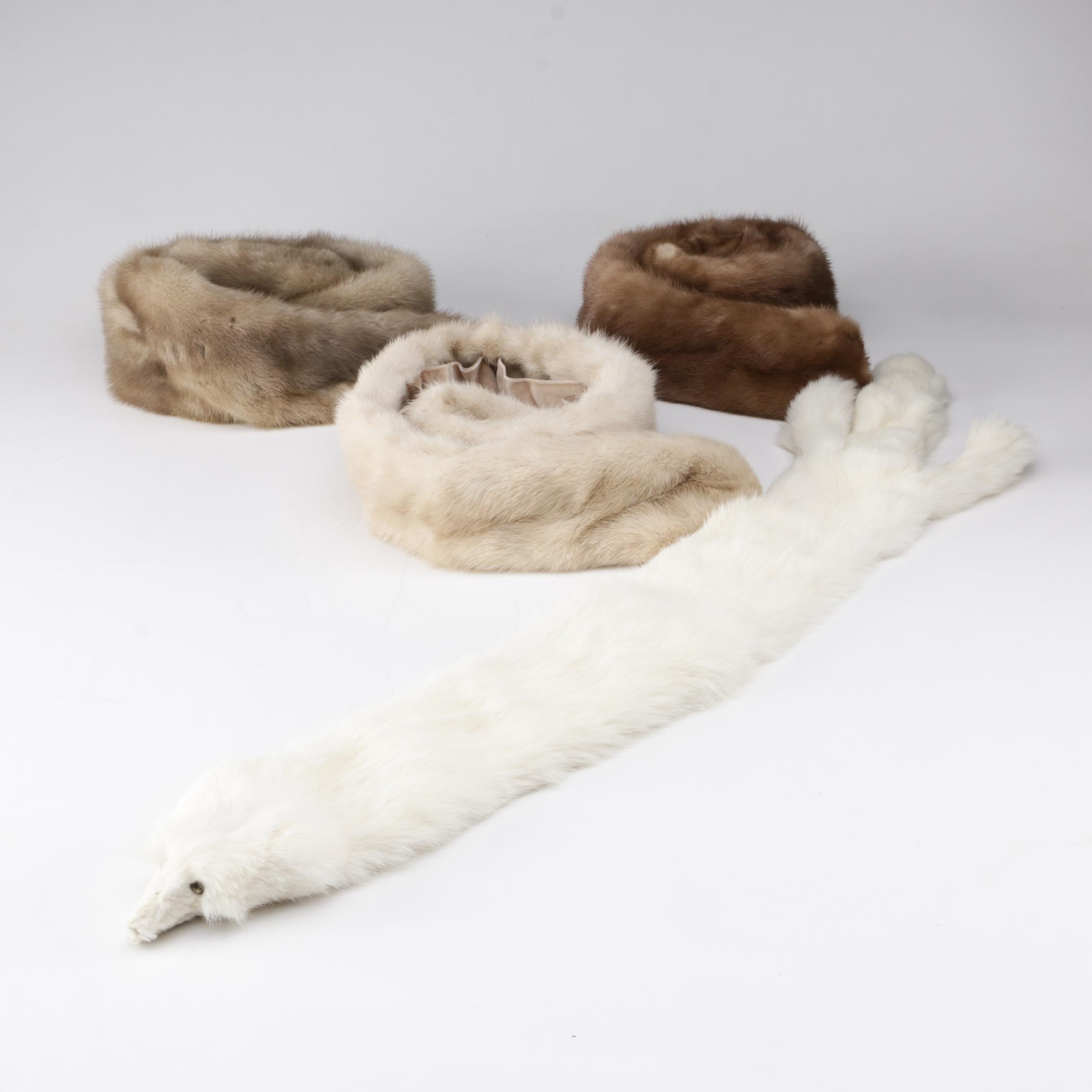 Women's Vintage Mink Fur and Ermine Fur Collars and Stoles