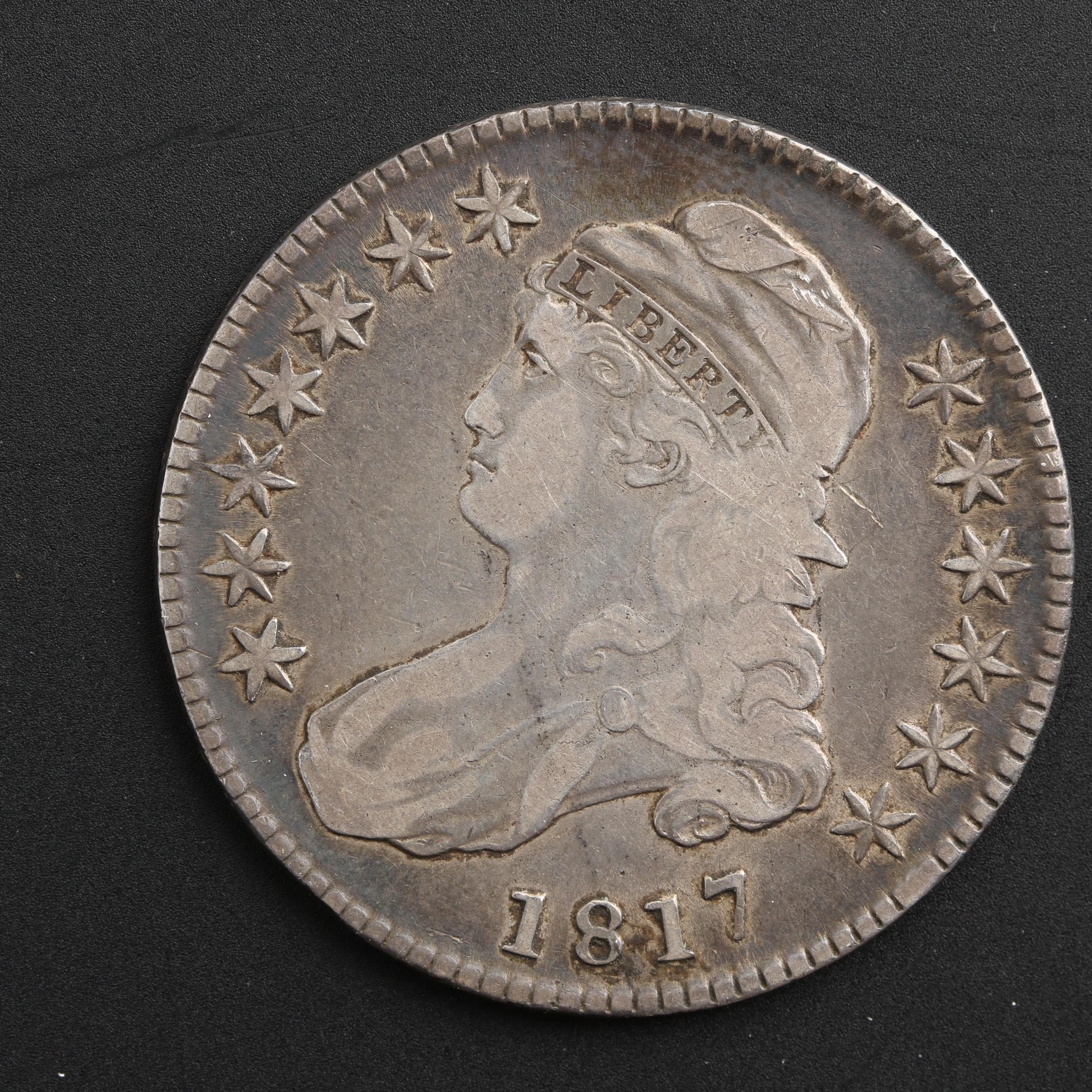 1817 Capped Bust Silver Half Dollar