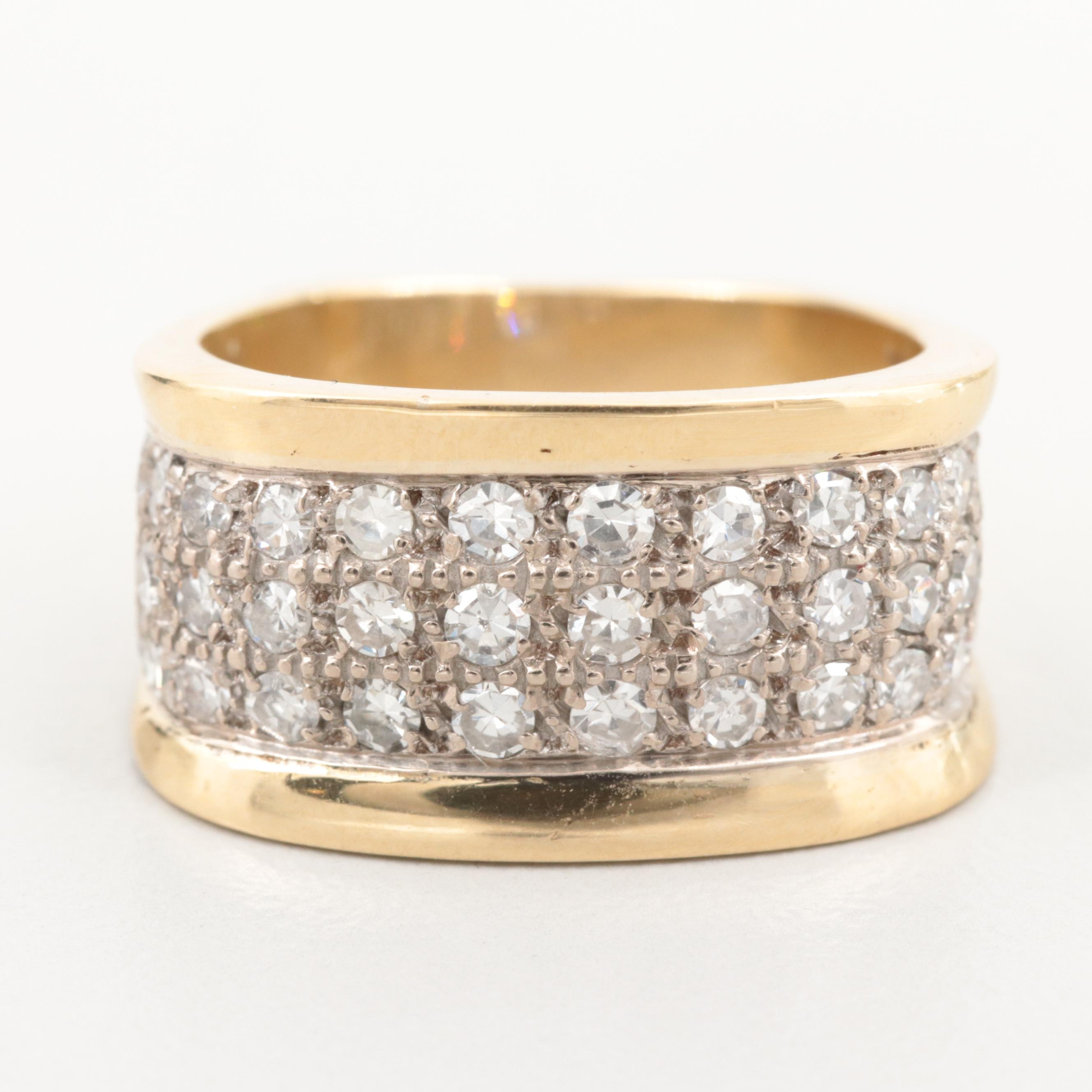 18K Yellow Gold 1.00 CTW Diamond Ring