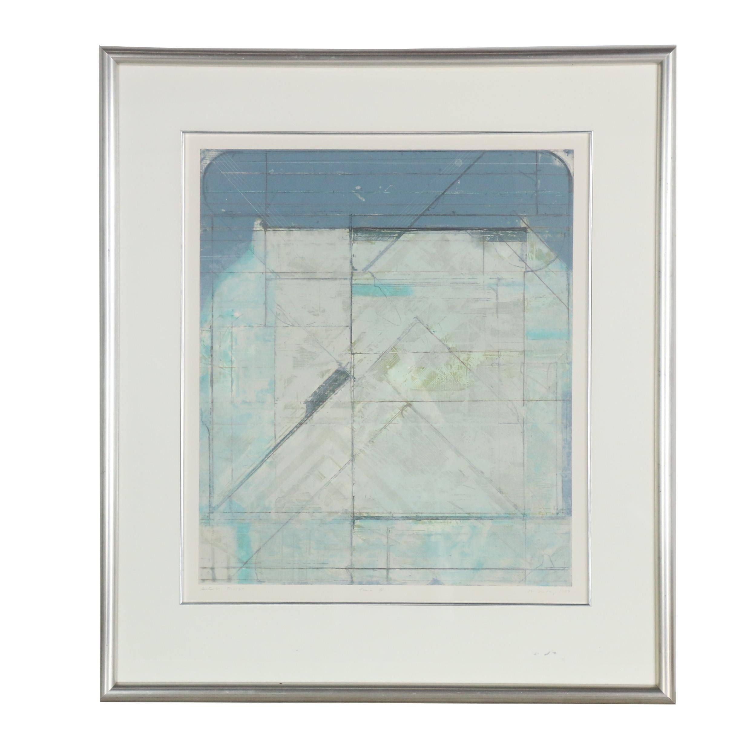 """1987 Embellished Relief Print """"Tana III"""""""