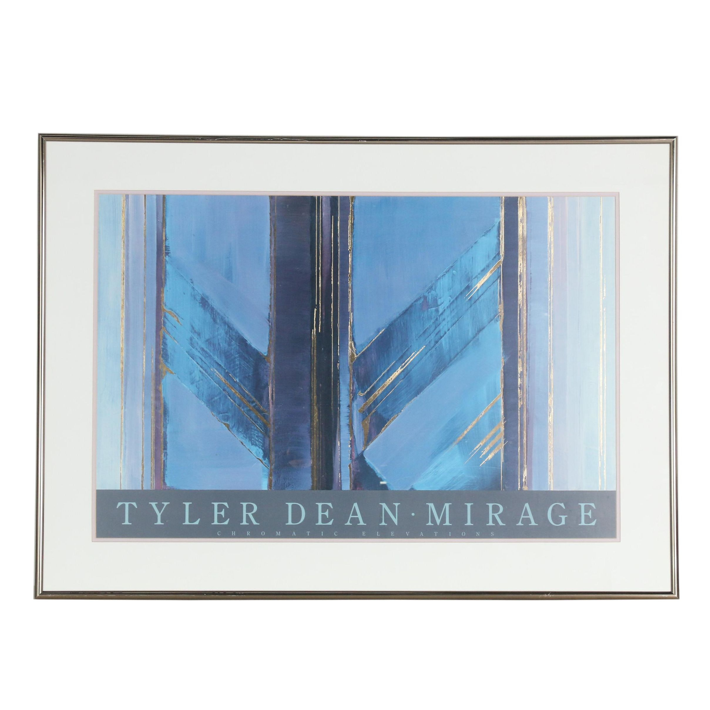 """Offset Lithograph Exhibition Poster after Tyler Dean """"Chromatic Elevations"""""""