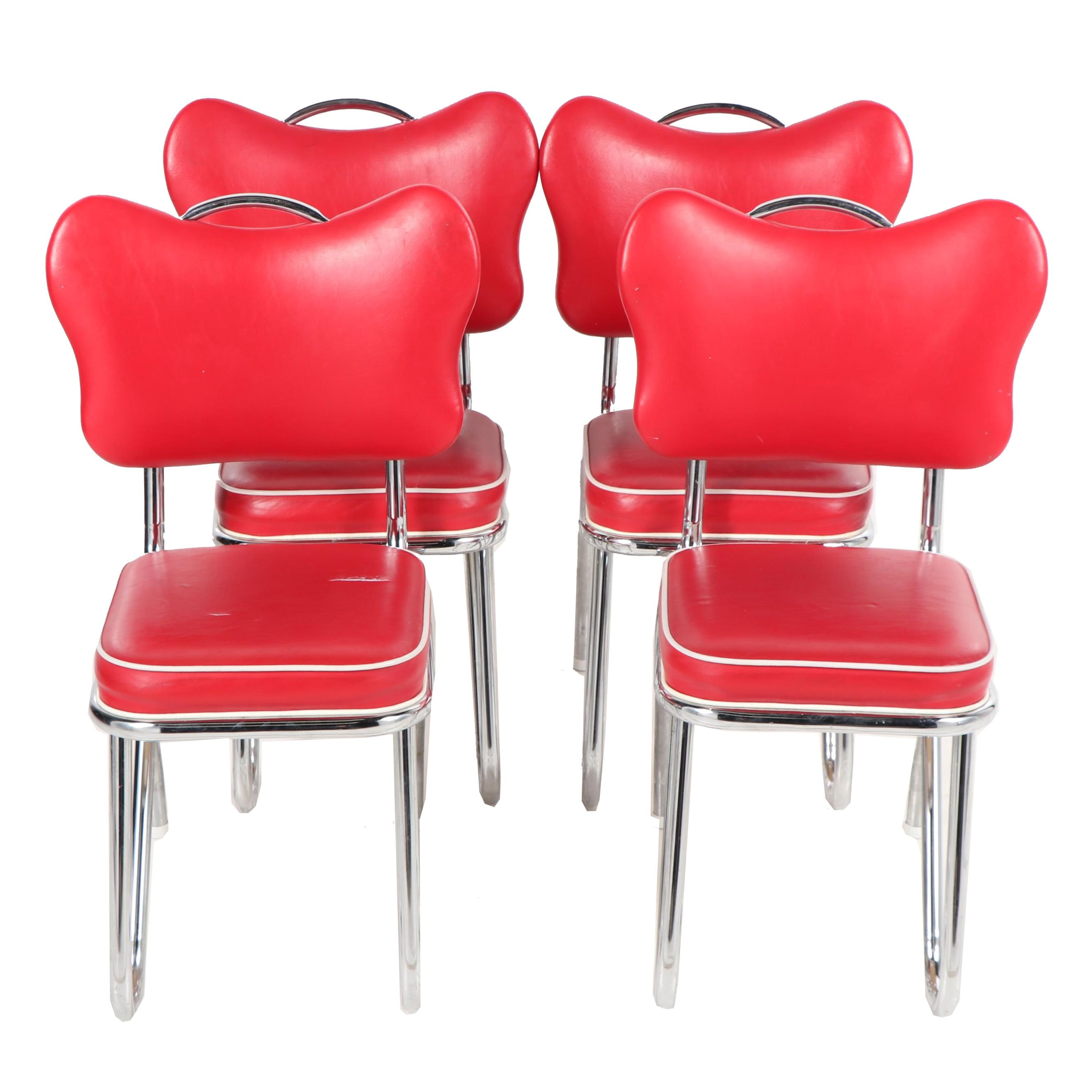 Mid Century Modern Style Vinyl and Chrome Diner Chairs by Daystrom, 20th Century