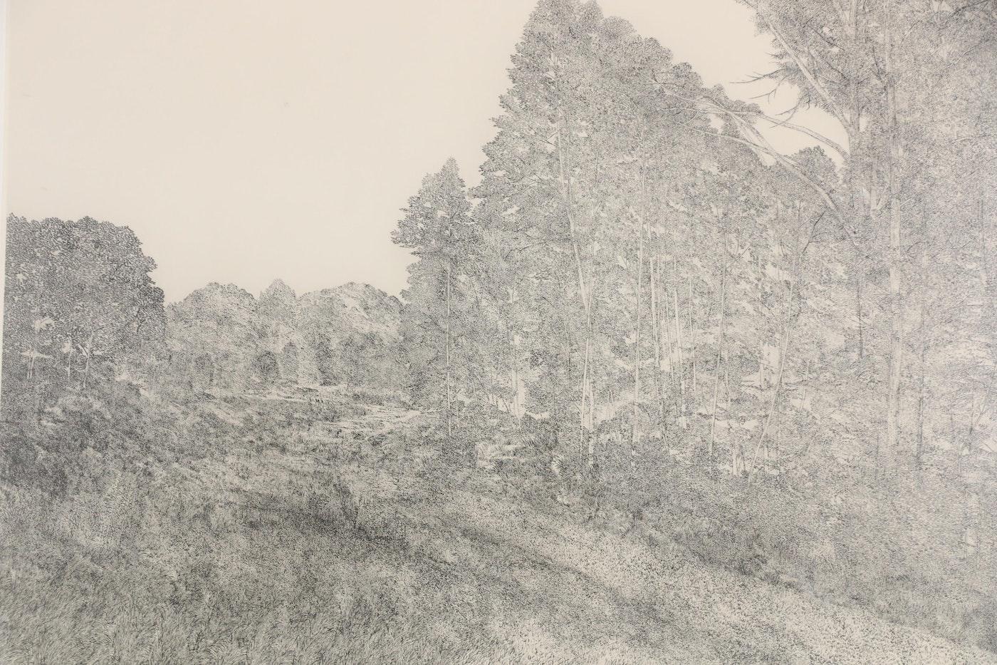 "Richard Claude Ziemann Etching ""Edge Of The Woods"""