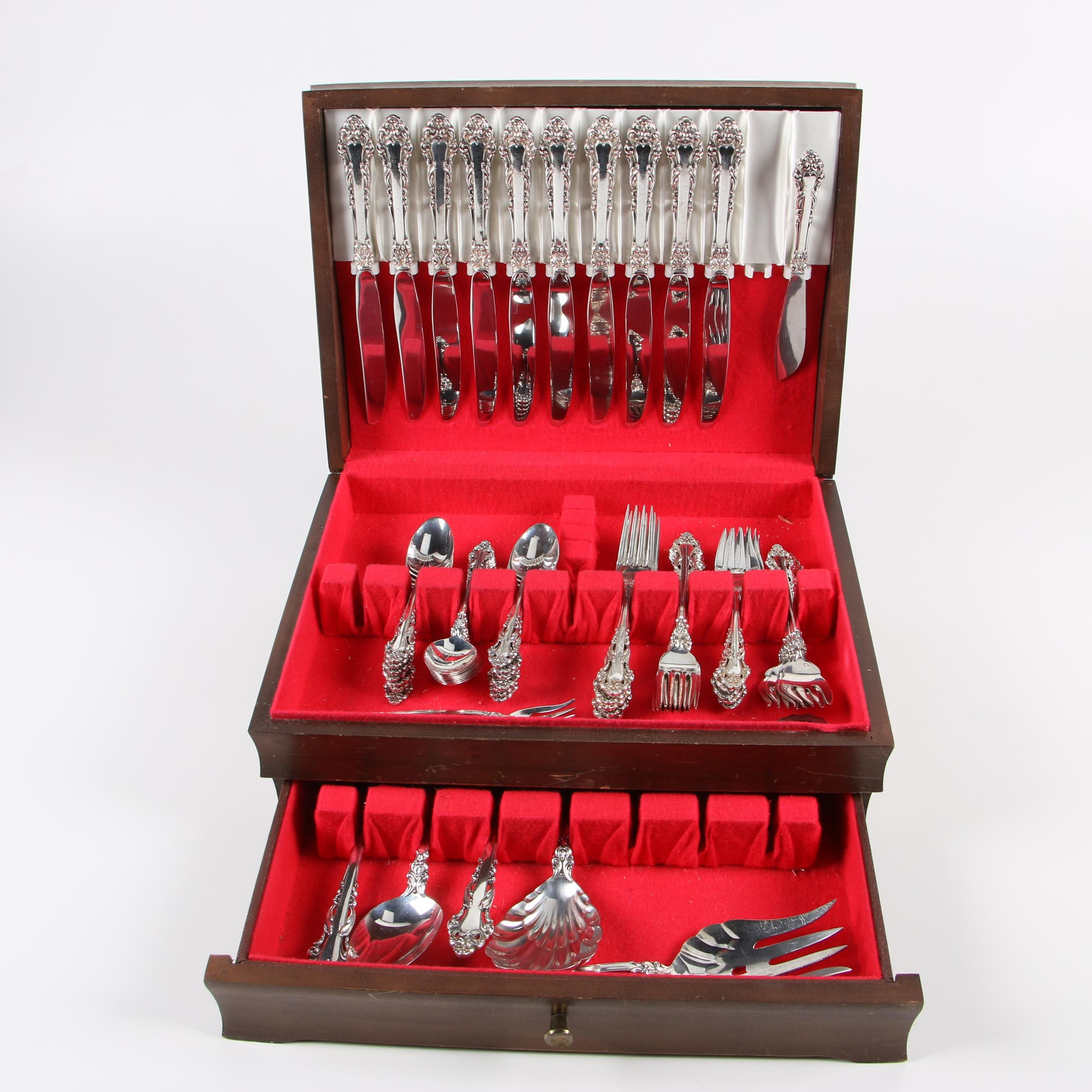 """Reed & Barton """"Grande Renaissance"""" Sterling Silver Flatware with Chest"""