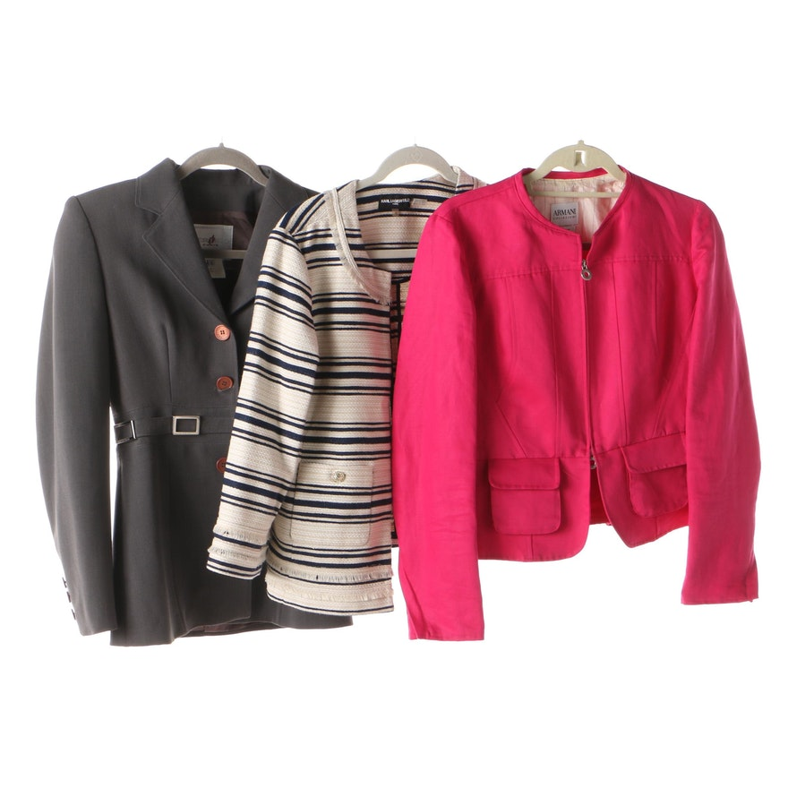 85e9b16681a6 Women's Karl Lagerfeld Paris, Vertigo Paris, and Armani Collezioni Jackets  : EBTH