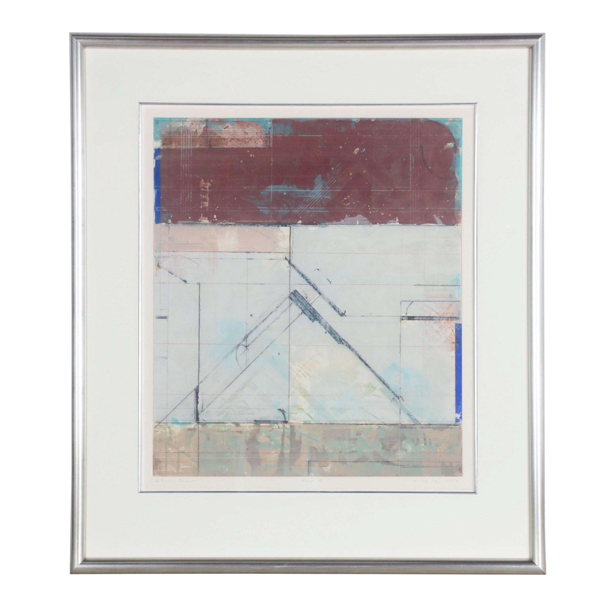 """1987 Embellished Relief Print """"Tana V"""""""