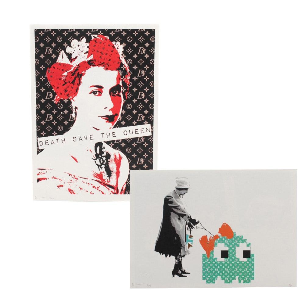 Death NYC Queen Elizabeth Graphic Illustrations