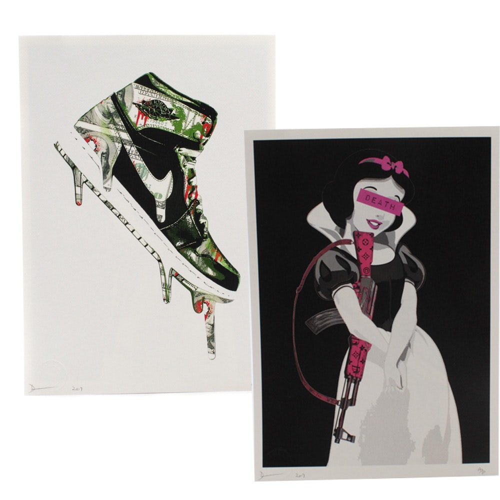 Death NYC Nike and Snow White Graphic Illustrations