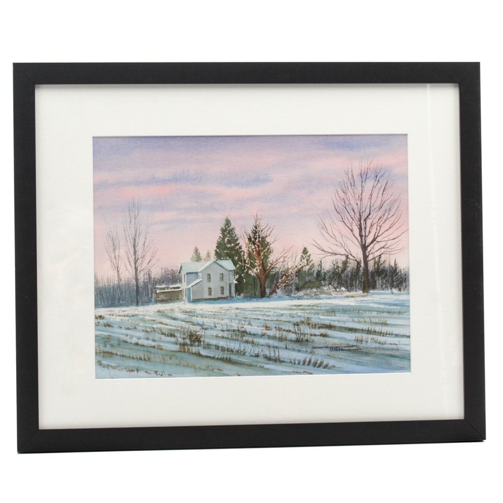 James DeVore Watercolor Landscape Painting