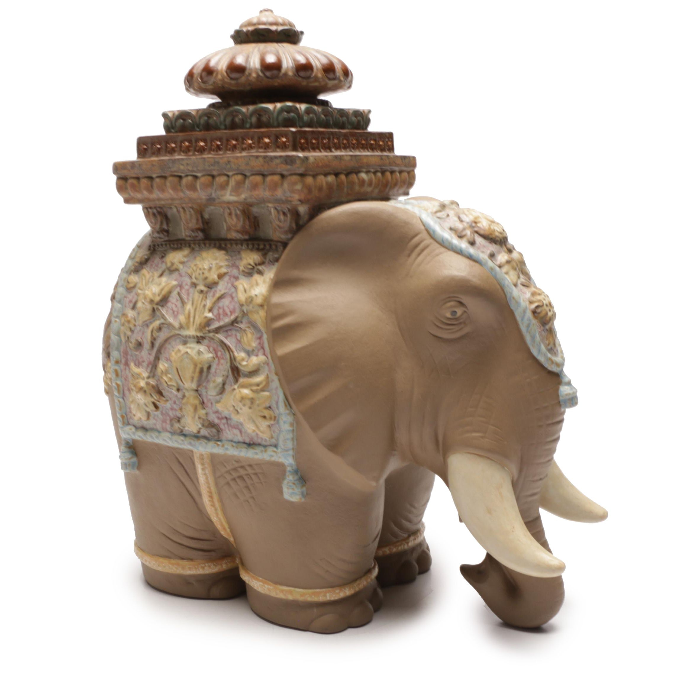 Lladro Elephant Sculpture by Antonio Ballester