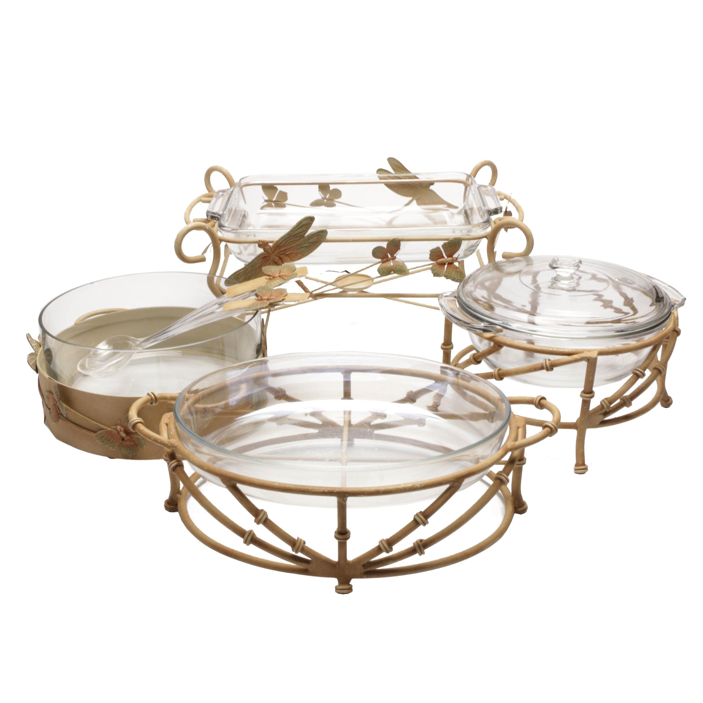 Five Piece Buffet Serving Set with Plastic Serving Spoons