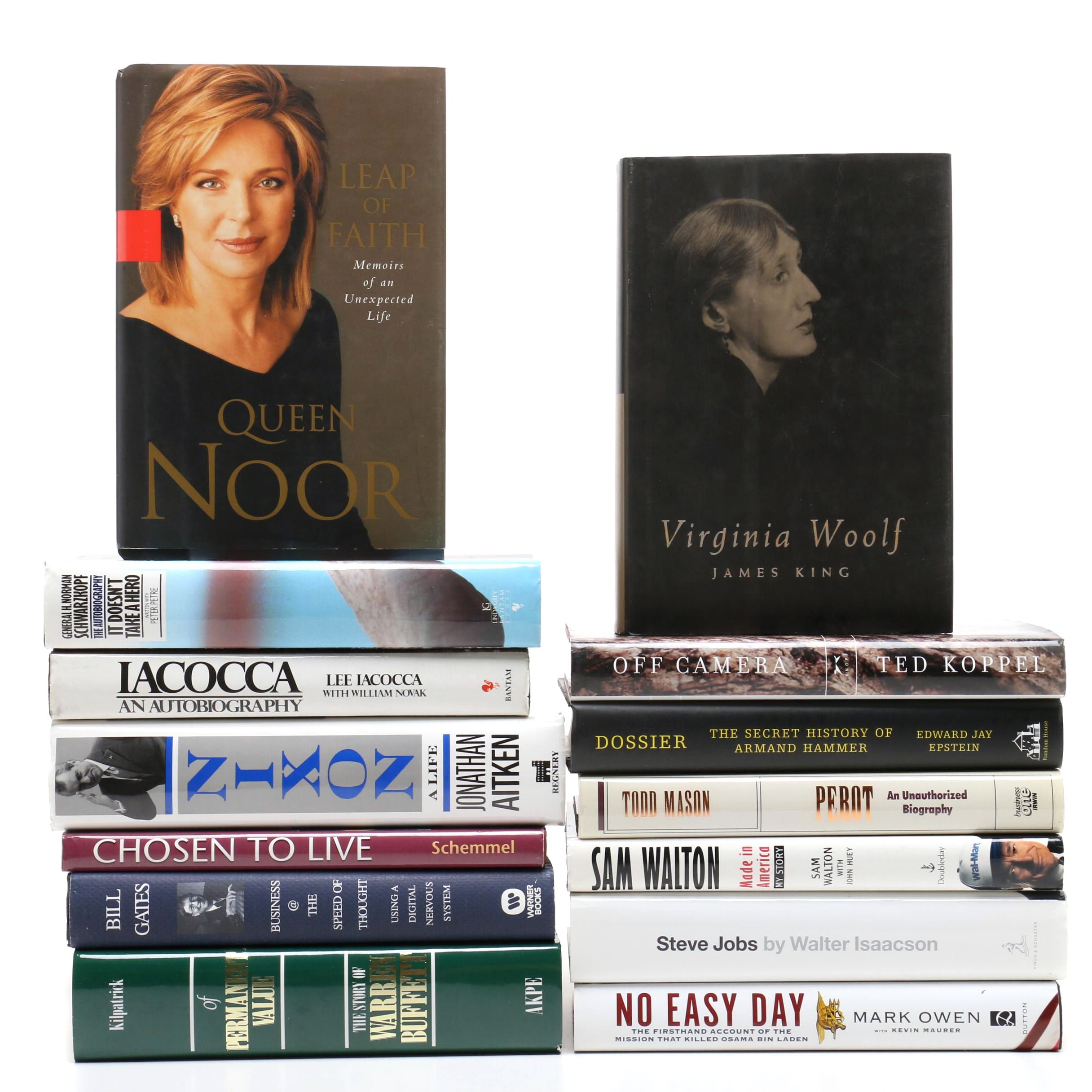 """Contemporary Biographies including First Edition """"Leap of Faith"""" by Queen Noor"""