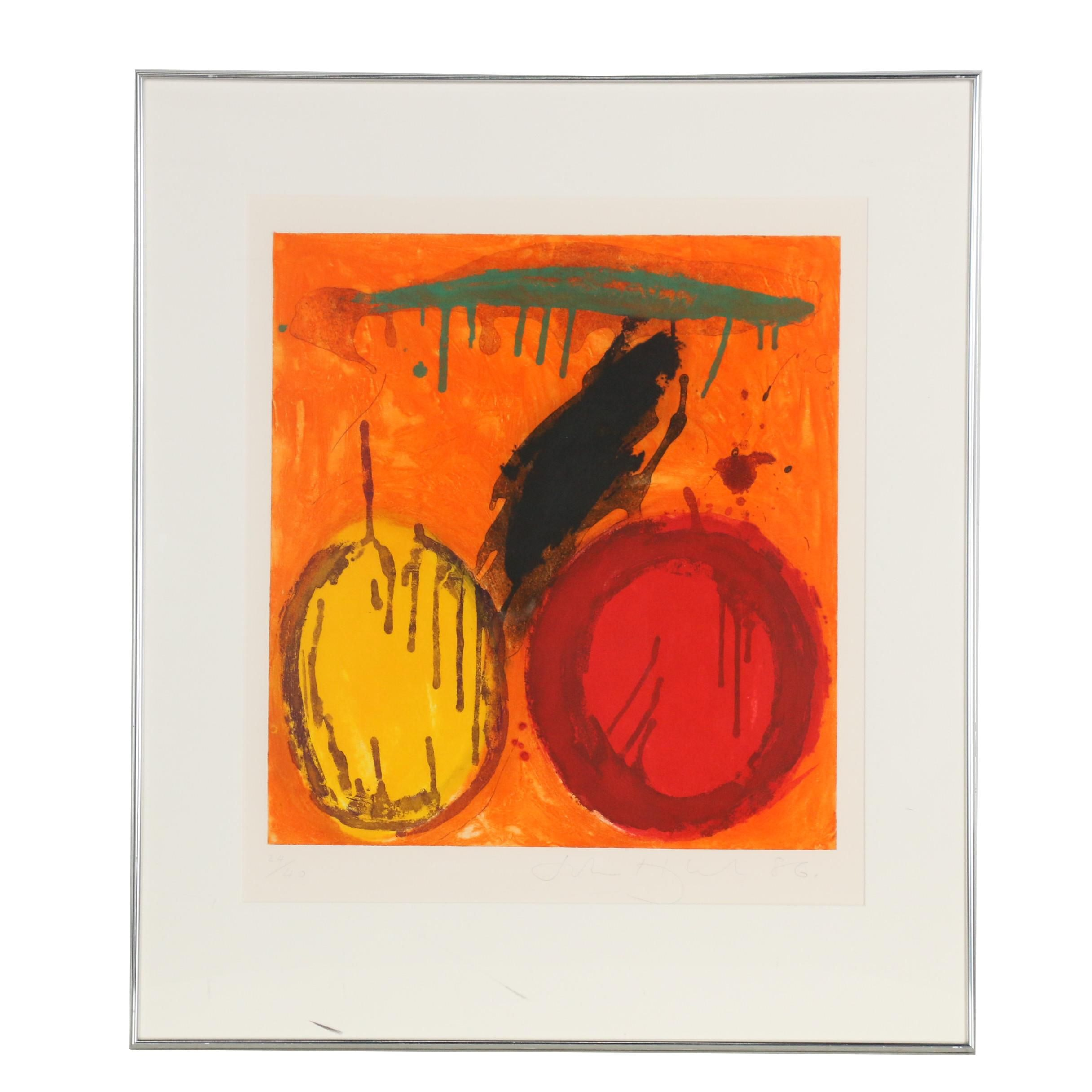 John Hoyland 1986 Etching with Aquatint