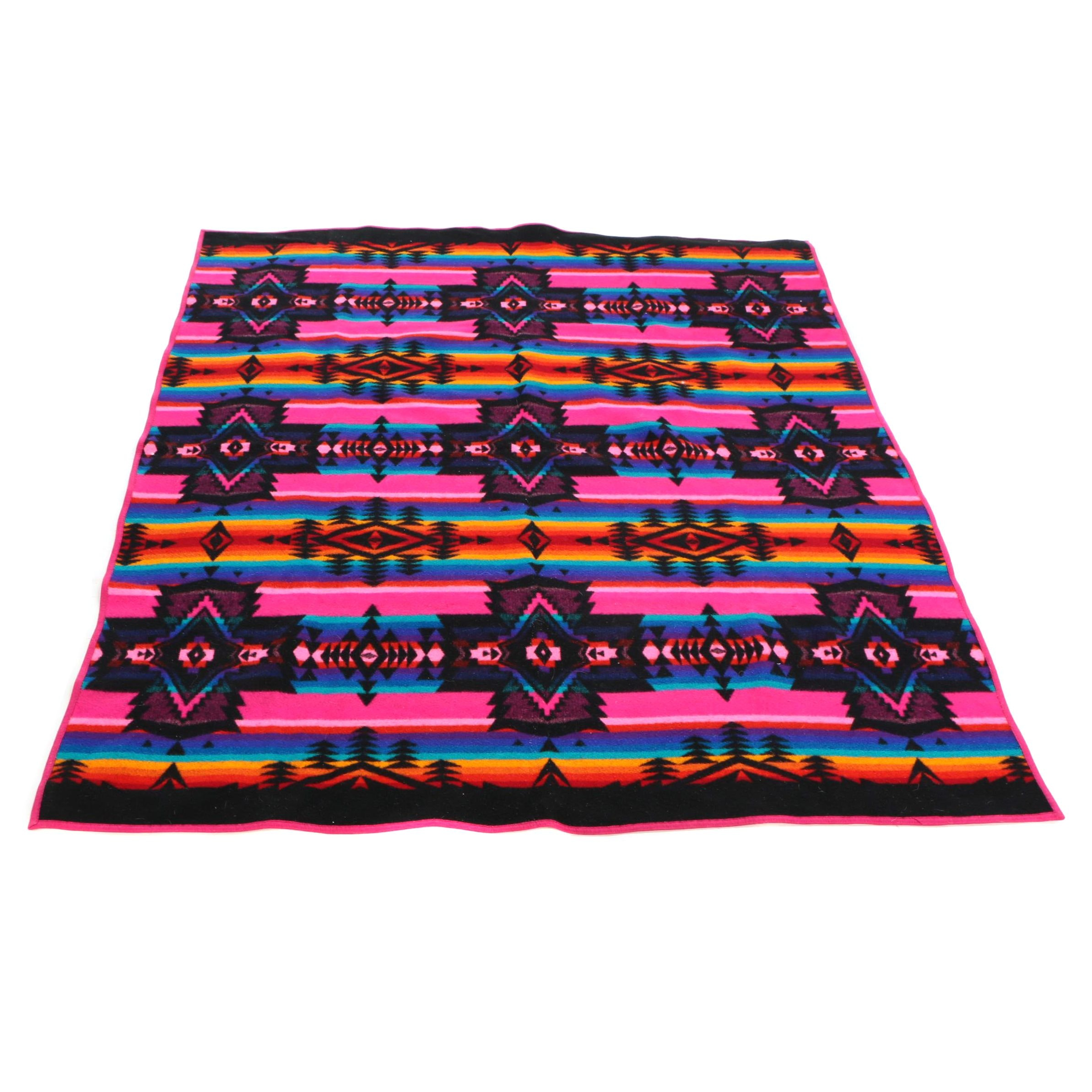 "Pendleton ""Beaver State"" Southwestern Style Wool Blanket"